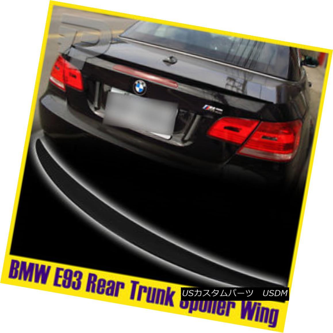 エアロパーツ Painted #475 Black BMW 3-Series E93 Cabrolet P Boot Trunk Spoiler Wing 2013 #475黒BMW 3シリーズE93カブレットPブーツトランク・スポイラーウィング2013を塗装