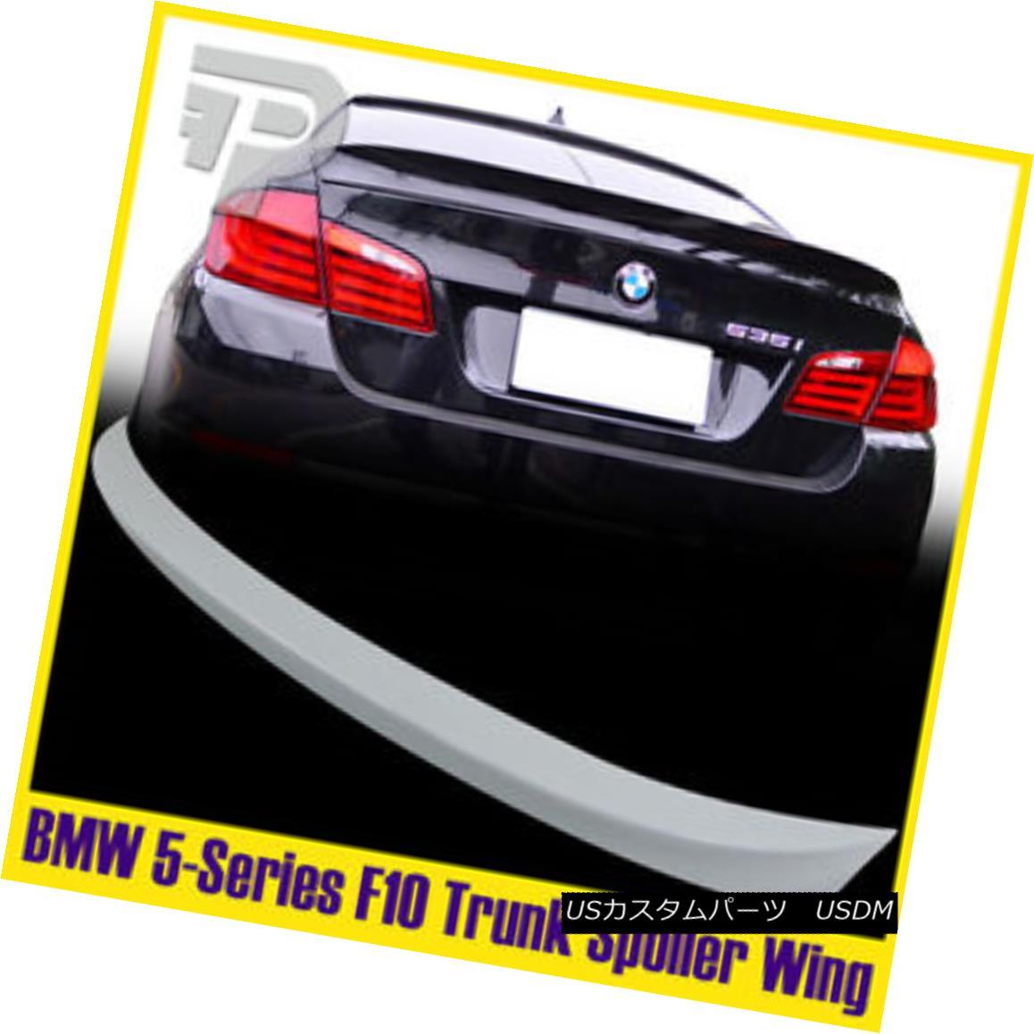 エアロパーツ Painted BMW 5er F10 Saloon A Style Rear Trunk Spoiler Boot Wing #300 White ペイントされたBMW 5er F10サルーンスタイルのリアトランク・スポイラー・ブーツ・ウィング#300ホワイト