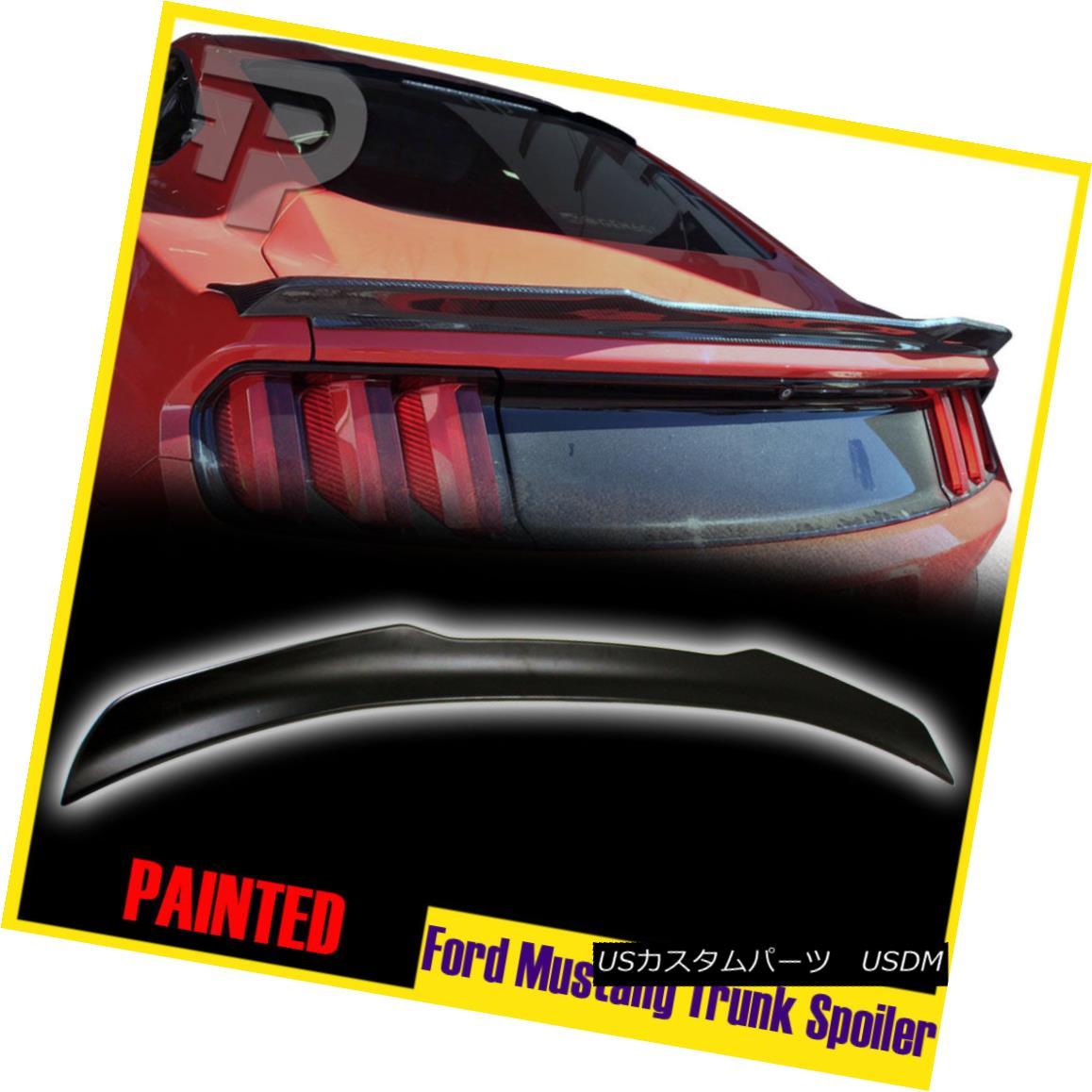 エアロパーツ Painted V Style Rear Trunk Spoiler Ford Mustang 6th GT 2D Coupe GT V6 2015-2017 塗装済みVスタイルリアトランク・スポイラーフォード・マスタング6th GT 2DクーペGT V6 2015-2017