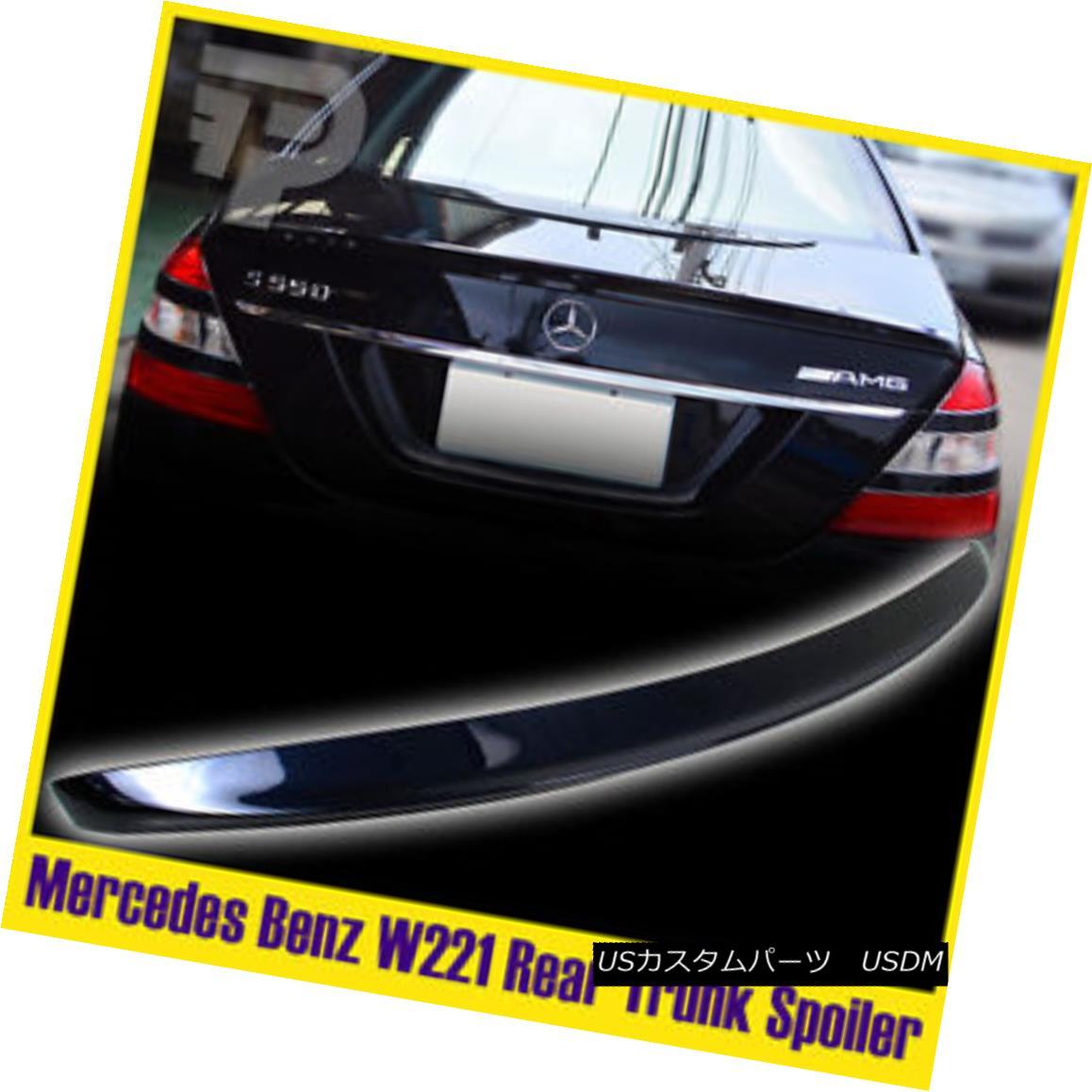 エアロパーツ Painted Color Benz S-Class W221 Saloon 4DR Rear Spoiler Trunk #890 Boot 塗装カラーベンツSクラスW221サルーン4DRリアスポイラートランク#890ブーツ