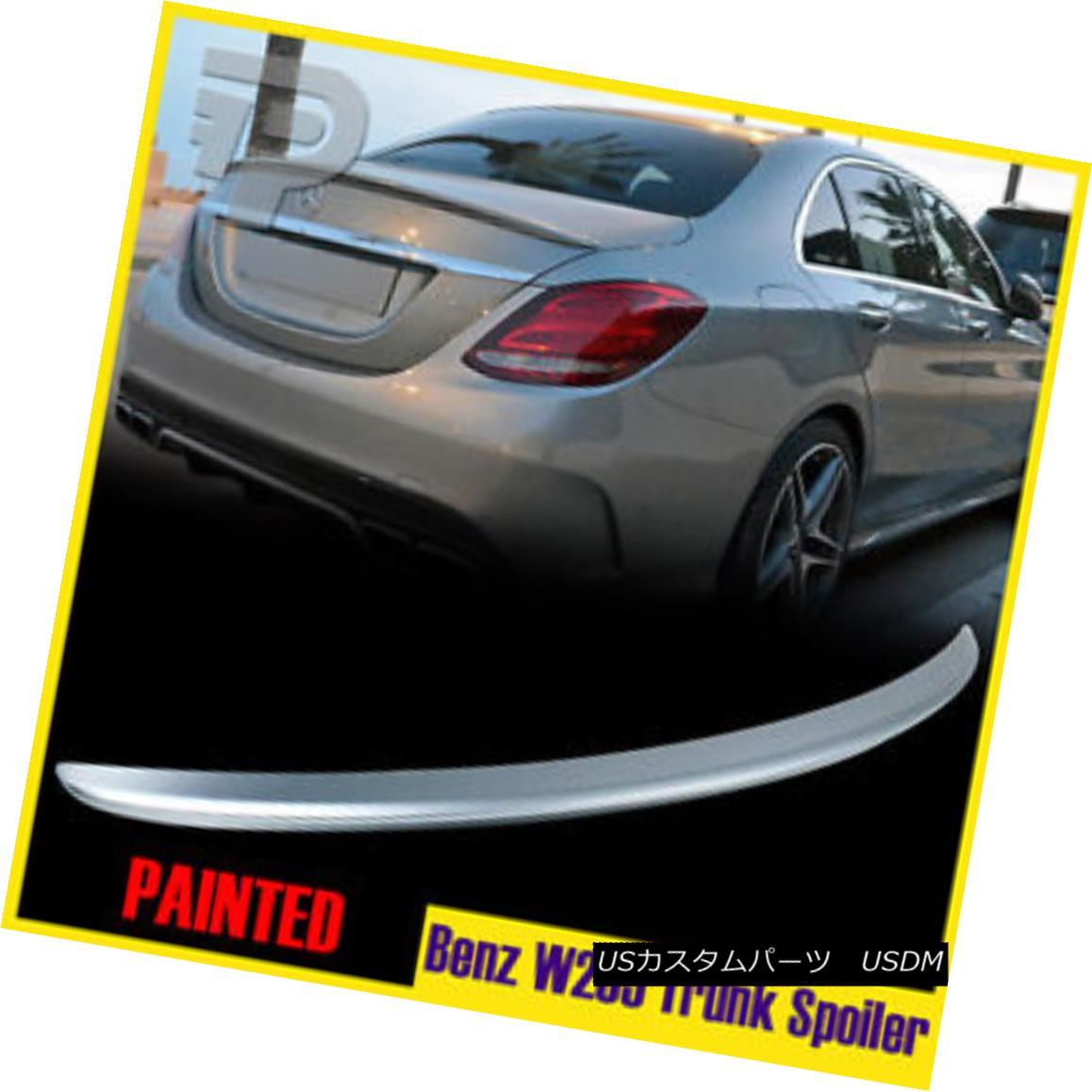 エアロパーツ Painted Mercedes Benz C-Class W205 Saloon C180 A Look Rear Boot Spoiler #988 塗装されたメルセデスベンツCクラスW205サルーンC180ルックリア・ブート・スポイラー#988