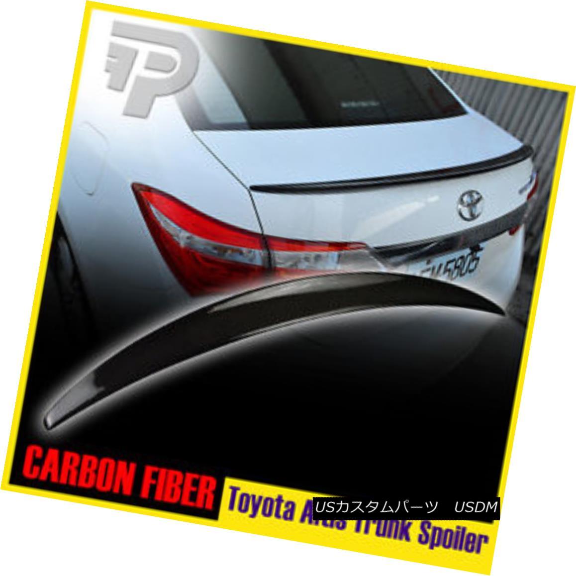 エアロパーツ Carbon Fiber For Toyota Corolla Altis 2014-2016 Performance P-Type Trunk Spoiler Toyota Corolla Altis用炭素繊維2014-2016パフォーマンスP型トランク・スポイラー
