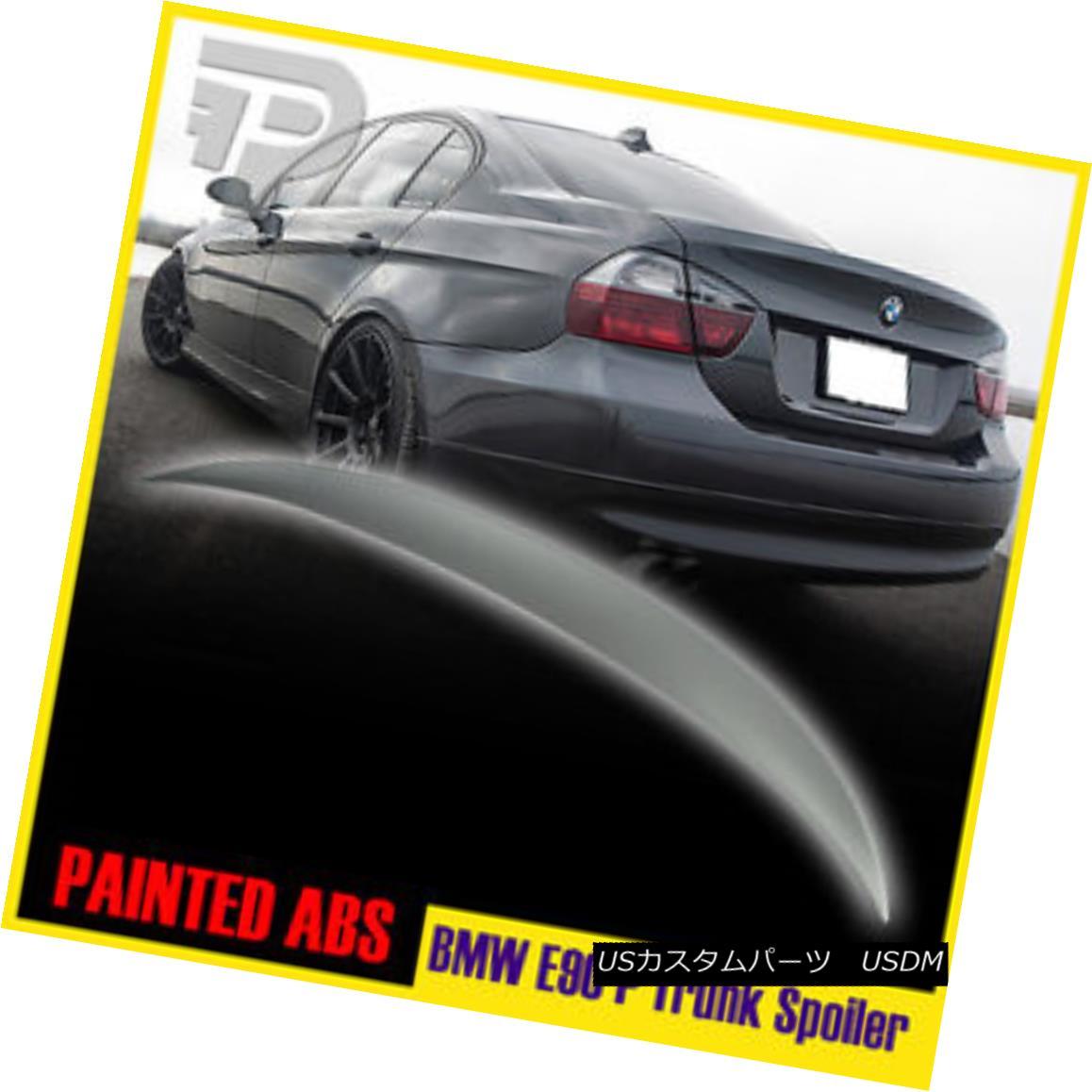 325i M3 328i BMW E90 Sedan Performance Type High Kick Rear Trunk Spoiler ABS 11