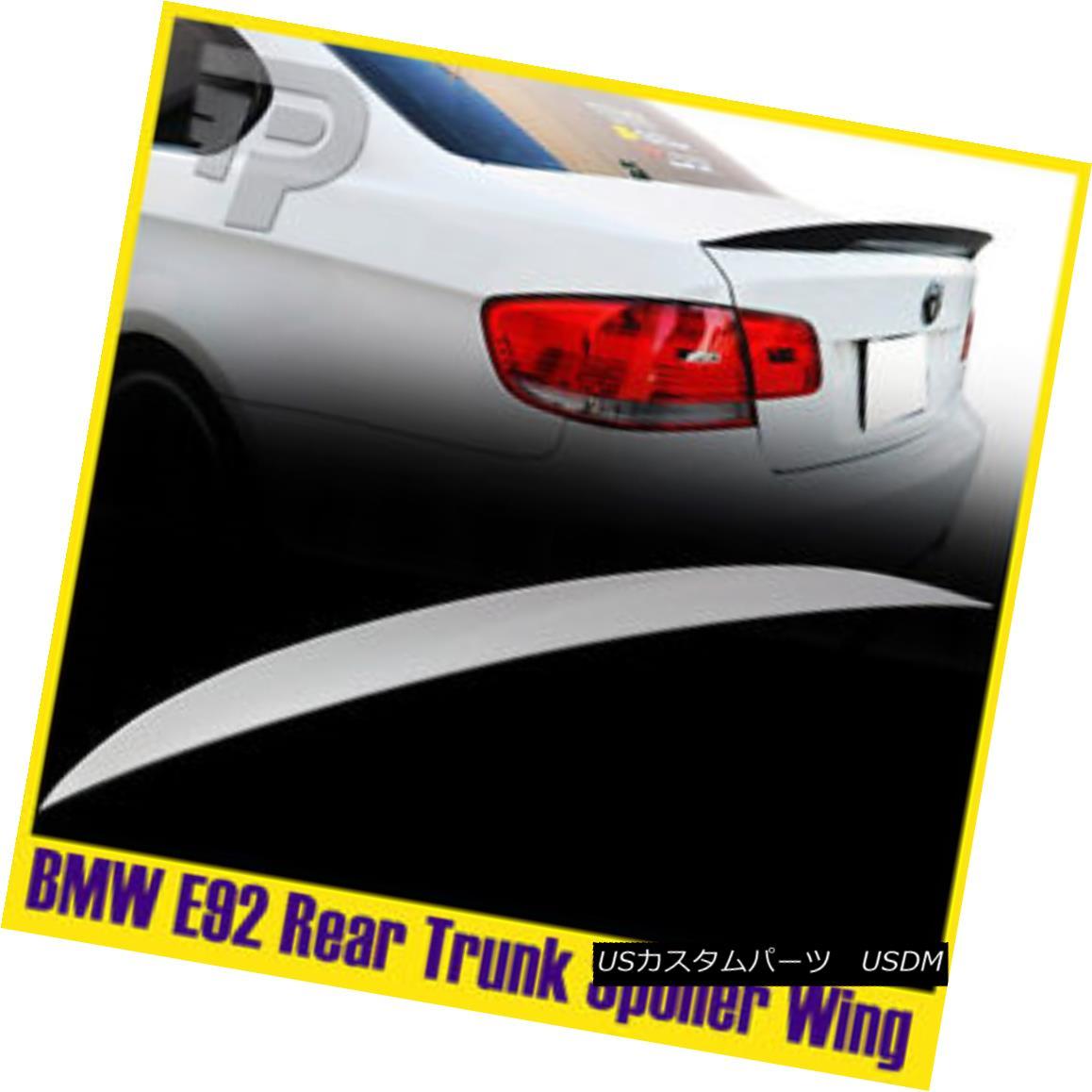 エアロパーツ PAINTED #300 HIGH KICK BMW E92 P-Style 2DR Coup? Rear Trunk Boot Spoiler 塗装済み#300ハイキックBMW E92 P-スタイル2DRクーペリア・トランク・ブーツ・スポイラー