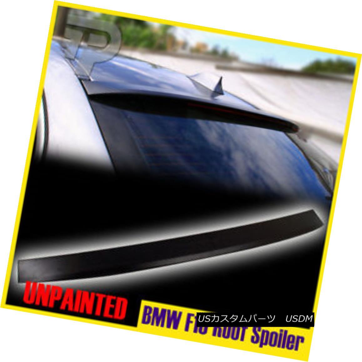 エアロパーツ BMW F10 5 Series Saloon Unpainted D-Style roof Lip Spoiler Wing 2011 2016 BMW F10 5シリーズサルーン無塗装D-スタイルルーフリップスポイラーウイング2011 2016