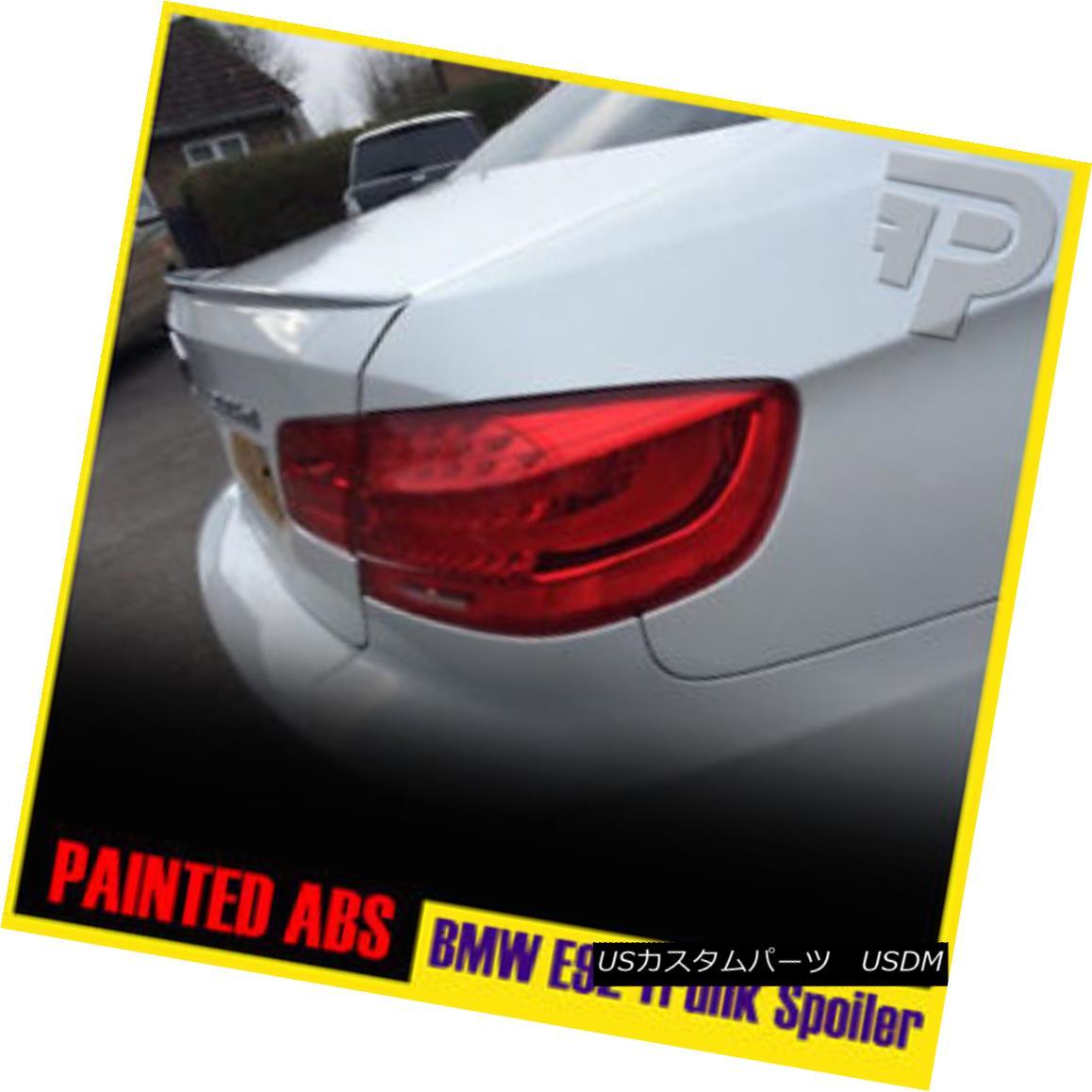 エアロパーツ PAINTED COLOR E92 BMW 2DR COUPE M3 LOOK TRUNK REAR SPOILER #300 WHITE 335i 塗装色E92 BMW 2DR COUPE M3ルックトランクリアスポイラー#300ホワイト335i