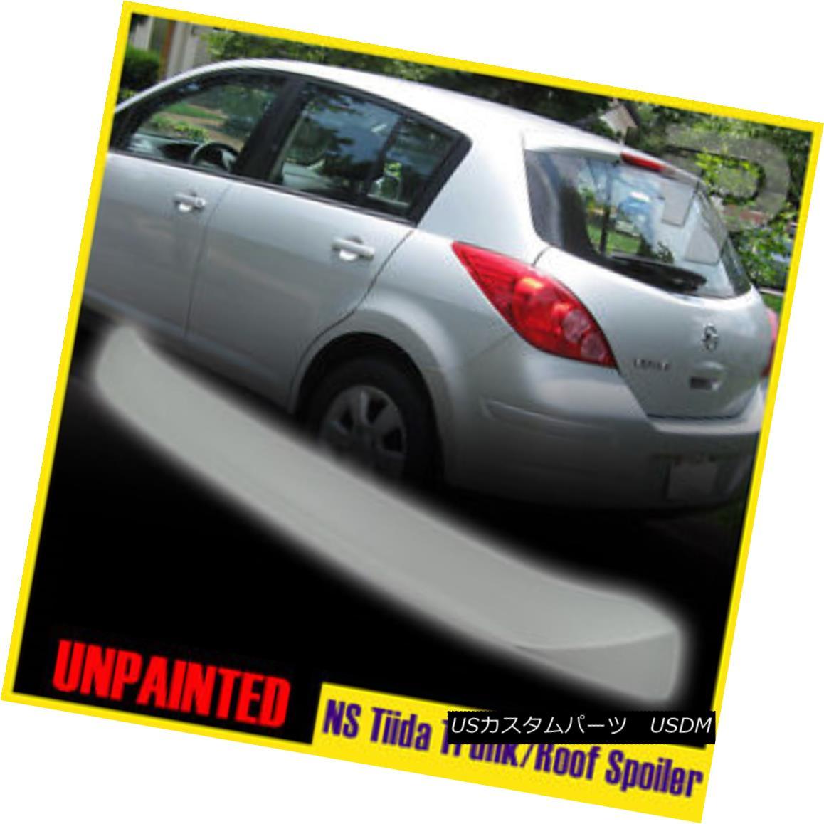 エアロパーツ Painted For Nissan Tiida 1st Versa C11 Rear Roof Spoiler Wing FRP 07-12 日産ティーダのための塗装第1回Versa C11リアルーフスポイラーウイングFRP 07-12