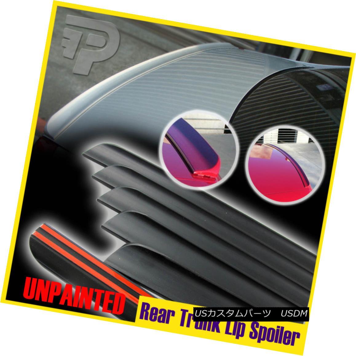 エアロパーツ For Volvo S40 T5 Sedan Rear Trunk Lip Spoiler Wing PUF Unpaint 08-12 Facelift ボルボS40 T5セダンリアトランクリップスポイラーウイングPUFアンペイント08-12フェイスリフト