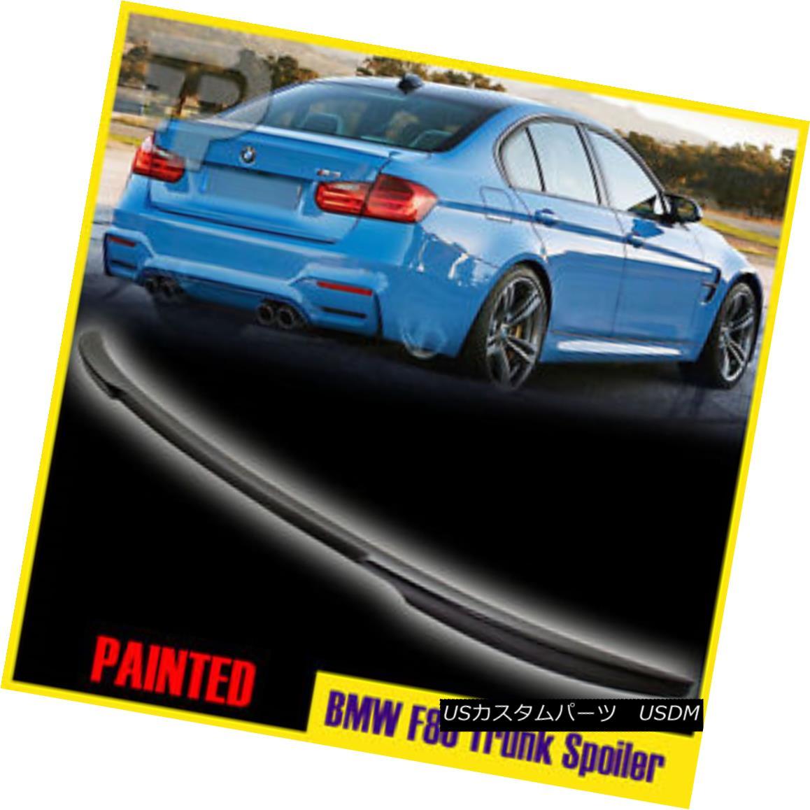 エアロパーツ Matte Black Paint BMW 3-Series F80 F30 Saden V-Type Rear Trunk Lip Spoiler 15 マットブラックペイントBMW 3シリーズF80 F30サデンV型リアトランクリップスポイラー15