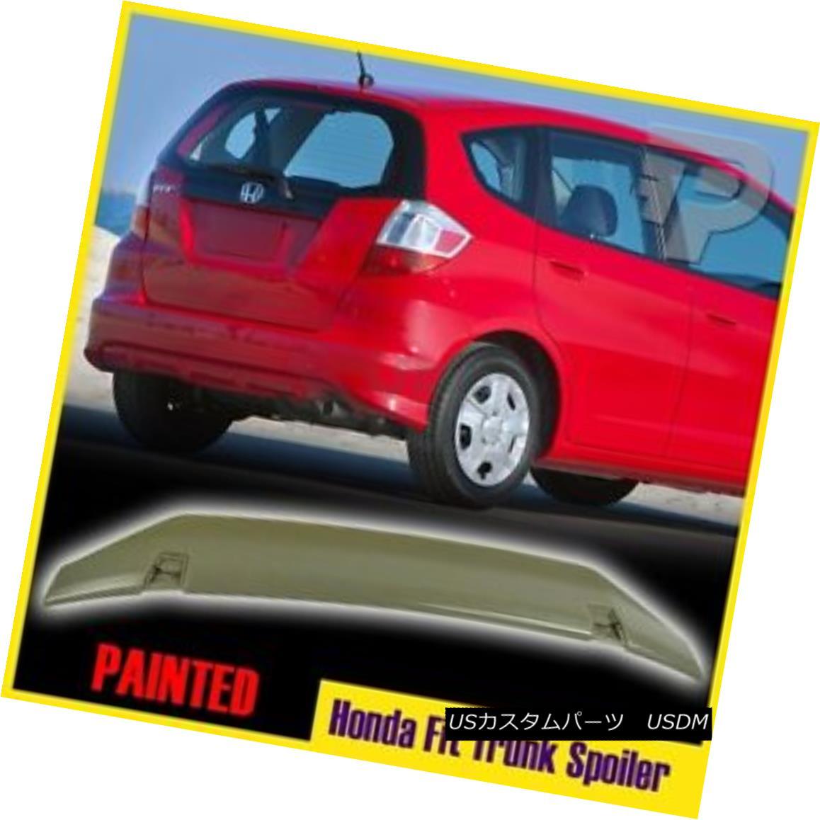 エアロパーツ Painted For Honda Fit 2nd Hatchback 4 Door OE Style Rear Boot Spoiler Wing 09 13 ホンダ適合ハッチバック4ドアOEスタイルリアブーツ・スポイラーウイング09 13