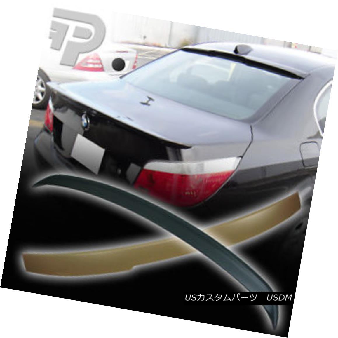エアロパーツ BMW 5-SERIES E60 SEDAN A TYPE REAR ROOF SPOILER + BOOT TRUNK WING 04-10▼ BMW 5シリーズE60セダンAタイプリアルーフスポイラー+ブーツトランクウイング04-10?