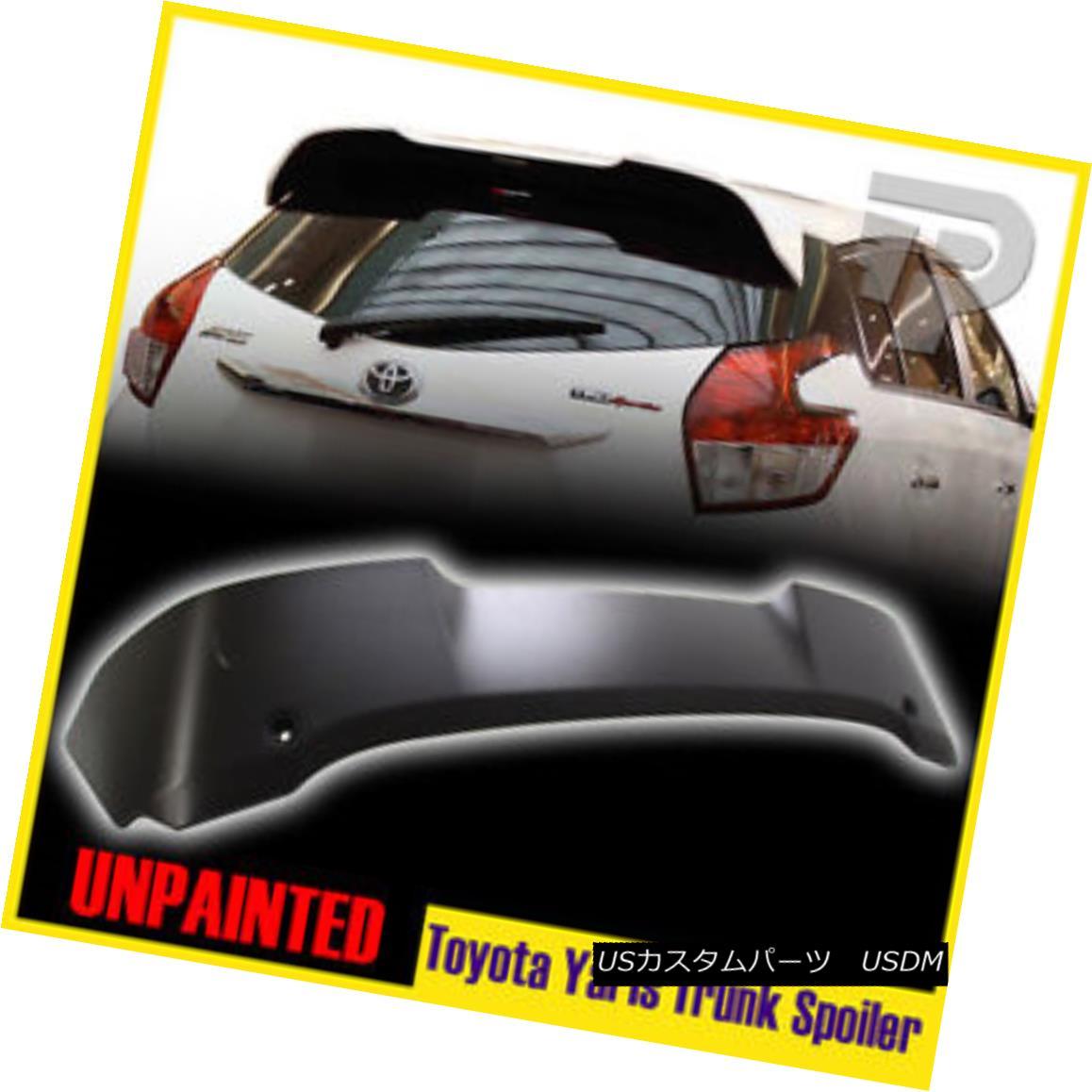 エアロパーツ Unpainted For TOYOTA 3rd Yaris 4D Hatchback LE T-Style Rear Spoiler Trunk Wing トヨタ第3ヤリス4DハッチバックLE T-スタイルリアスポイラートランクウィング用未塗装