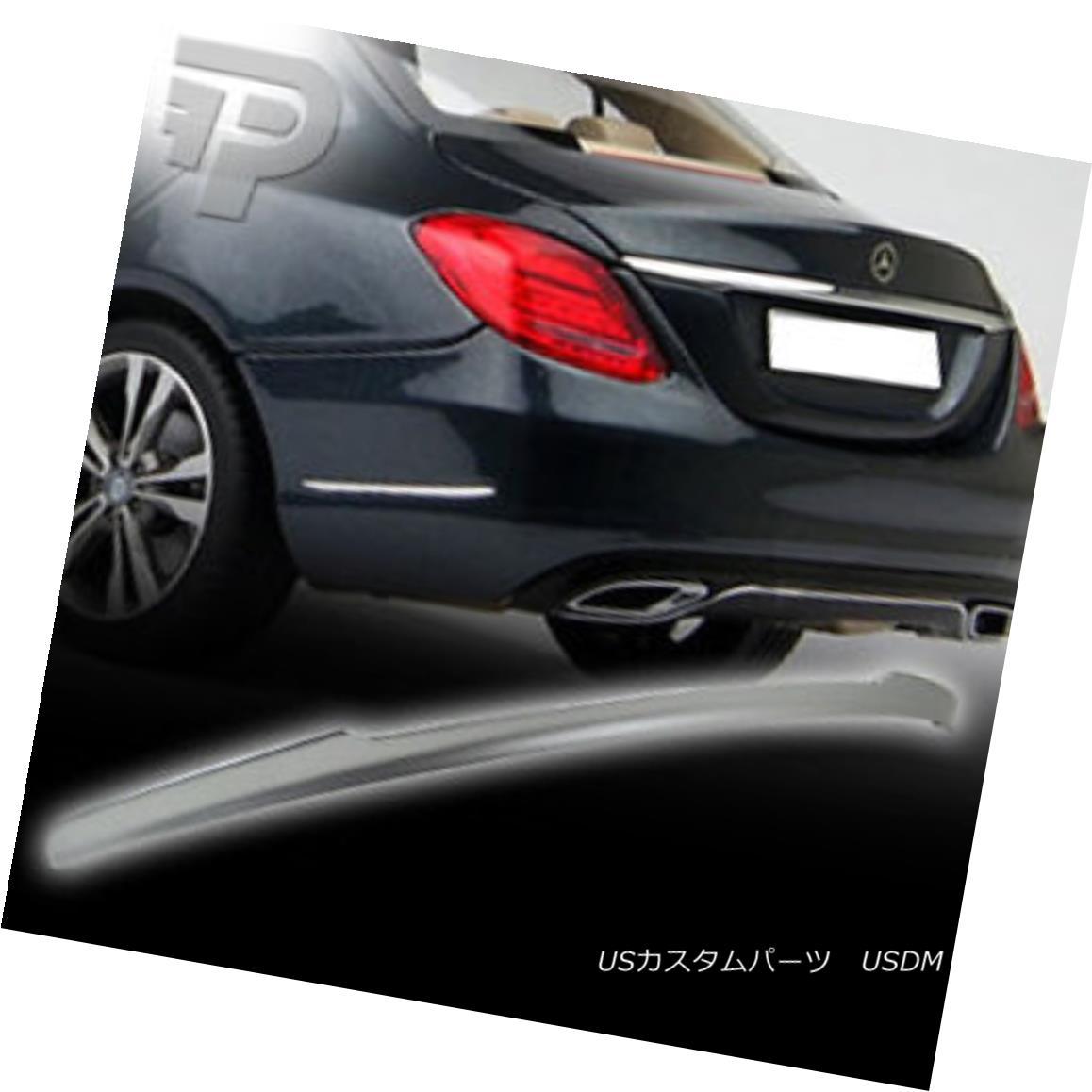 エアロパーツ Painted Mercedes BENZ C-CLASS W205 V REAR TRUNK SPOILER WING 4DR SEDAN▼ ペイントされたメルセデスベンツCクラスW205 Vリアトランクスポイラーウイング4DRセダン?