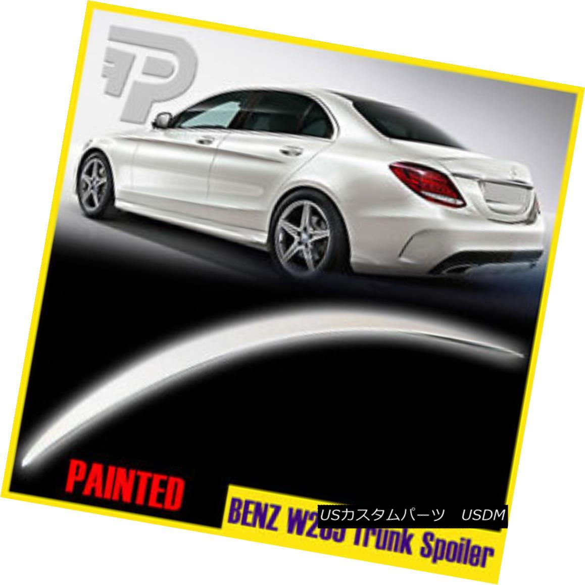 エアロパーツ Painted #799 Trunk Wing Spoiler Mercedes BENZ W205 C300 Saloon A-Look C-Class ペイント#799トランクウィングスポイラーメルセデスベンツW205 C300サルーンAルックCクラス