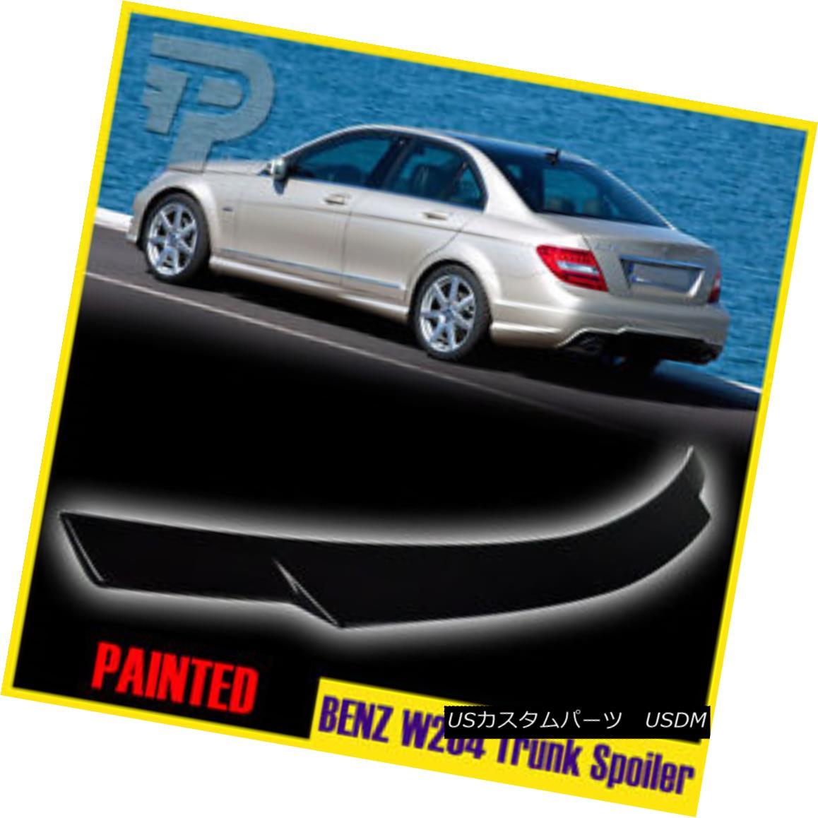 エアロパーツ PAINTED Mercedes BENZ W204 SEDAN V STYLE REAR TRUNK SPOILER ▼ 塗装されたメルセデスベンツW204セダンVスタイル後部トランクスポイラー?