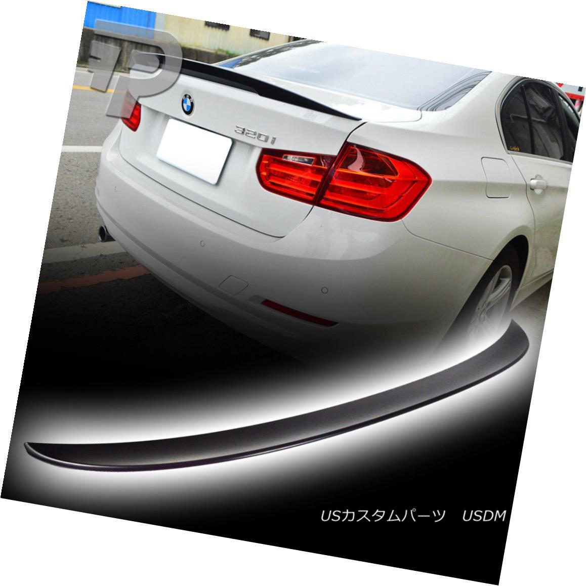 エアロパーツ 2012up Painted black #668 BMW 3-Ser F80 F30 M3 Sedan P Style Rear Trunk Spoiler 2012up黒塗装#668 BMW 3-Ser F80 F30 M3セダンPスタイル後部トランク・スポイラー