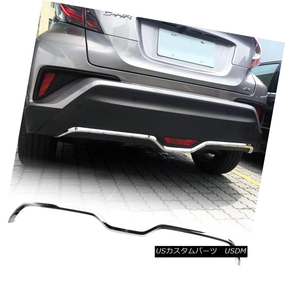 エアロパーツ Fit TOYOTA 2018 C-HR SUV Hatchback Bumper Under Garnish Cover Trim ABS Chrome フィットTOYOTA 2018 C-HR SUVハッチバックバンパーガーニッシュカバートリムABSクローム