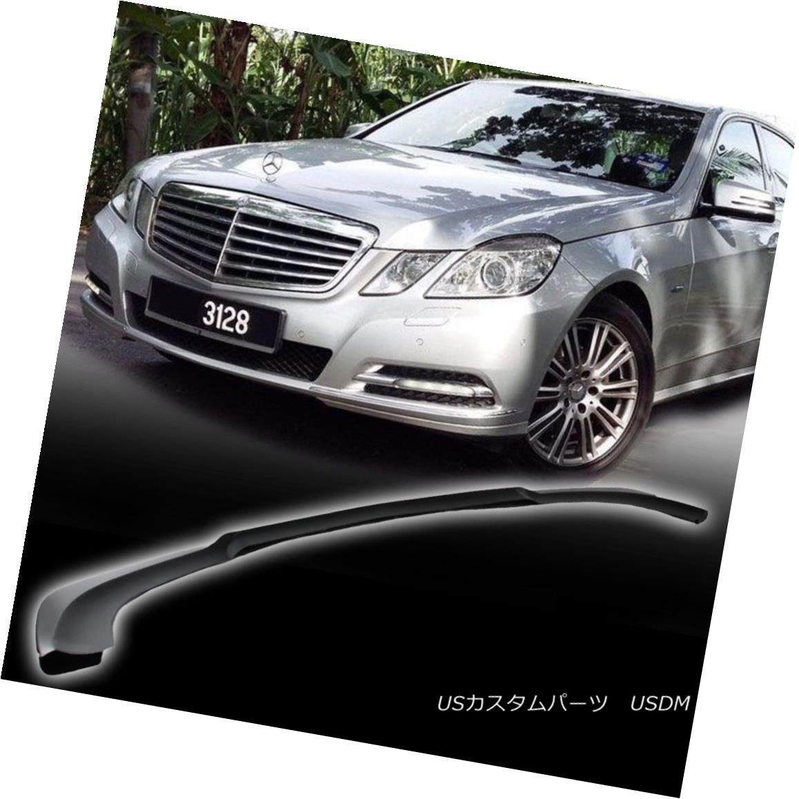 エアロパーツ Mercedes BENZ E Class W212 Matt Black Godhand Front Bumper Lip Spoiler 10-13 メルセデスベンツEクラスW212マットブラックゴッドハンドフロントバンパーリップスポイラー10-13