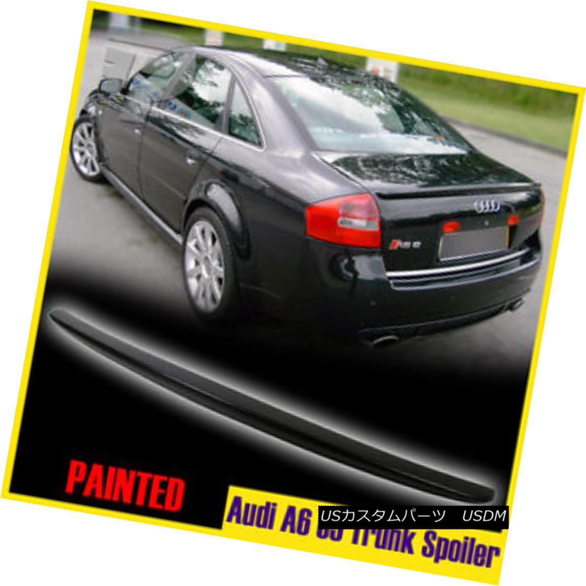 エアロパーツ Audi A6 C5 OE-Look Sedan Saloon 4DR Painted Rear Trunk Spoiler 2004 Audi A6 C5 OE-Lookセダンサルーン4DR塗装リアトランク・スポイラー2004