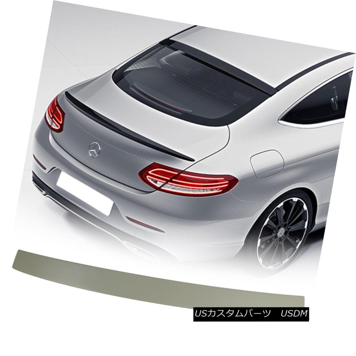 エアロパーツ Mercedes BENZ C-Class C205 Coupe Unpaint ABS OE Look Rear Roof Spoiler メルセデスベンツCクラスC205クーペ未塗装ABS OEルーフルーフスポイラールック