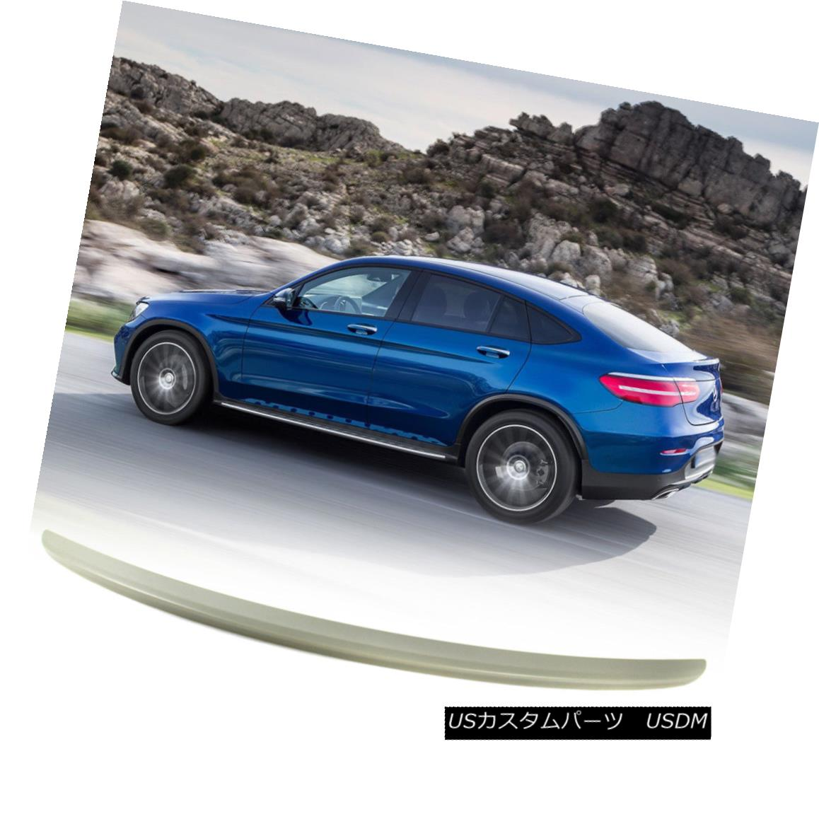 エアロパーツ Fit Mercedes BENZ GLC Class C253 A Look Rear Trunk Boot Spoiler Paint Color 2018 フィットメルセデスベンツGLCクラスC253ルックリアトランクブートスポイラーペイントカラー2018