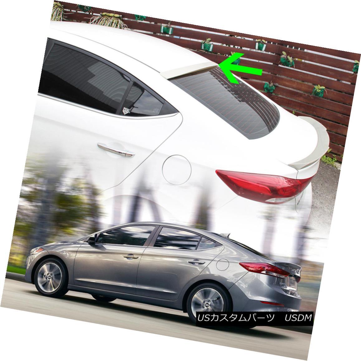 エアロパーツ Fit Hyundai Elantra AD OE Style Rear Roof Spoiler Wing Unpaint GL SE Sedan 16-18 Hyundai Elantra AD OEスタイルリアルーフスポイラーウィングアンペイントGL SEセダン16-18