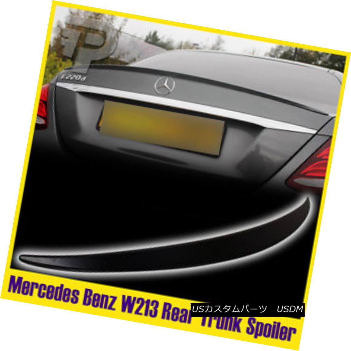 エアロパーツ Unpainted Mercedes Benz W213 Rear Trunk Spoiler Wing Sedan 4D 2017 ABS 未塗装メルセデスベンツW213リアトランクスポイラーウイングセダン4D 2017 ABS