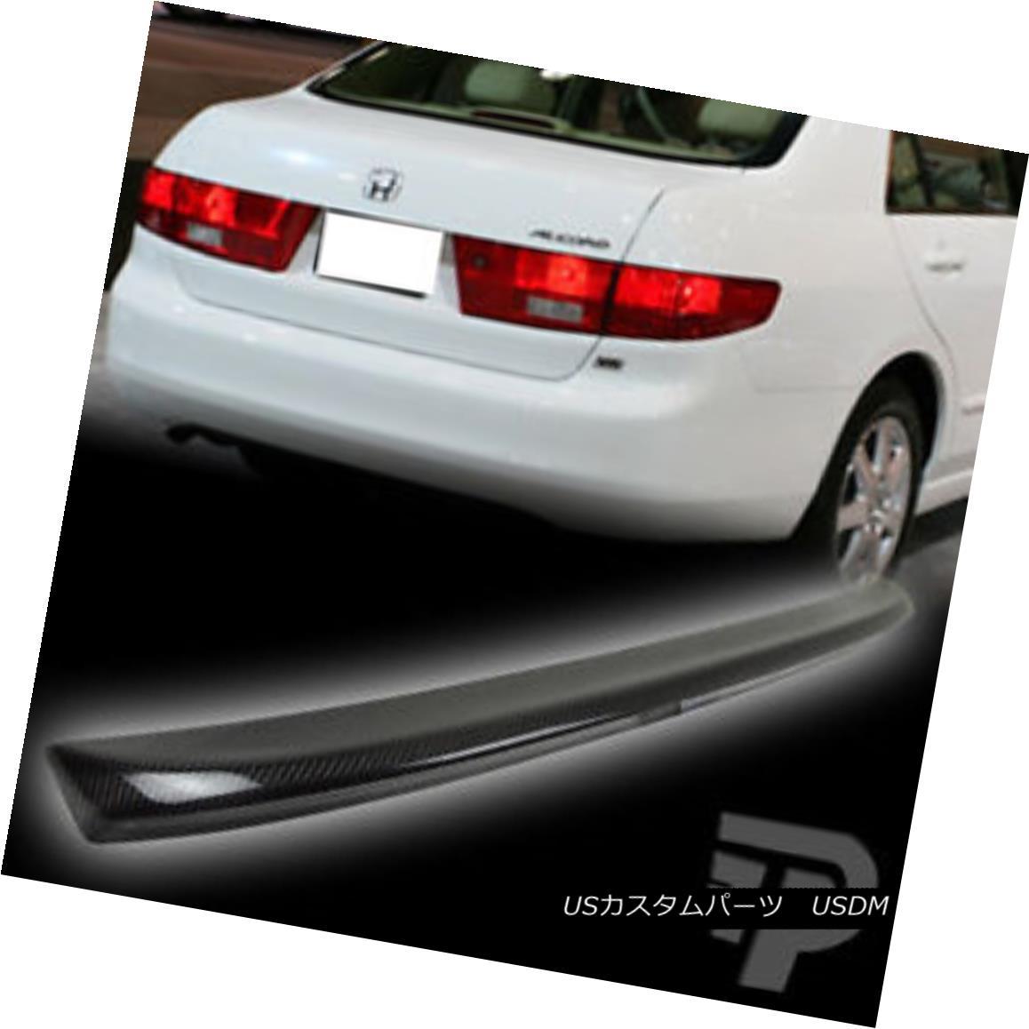 エアロパーツ Carbon Fiber FOR Honda Accord Sedan OE Type Rear Trunk Spoiler Wing 2003-2005▼ ホンダアコードセダンOEタイプリアトランクスポイラーウイング2003-2005用炭素繊維?