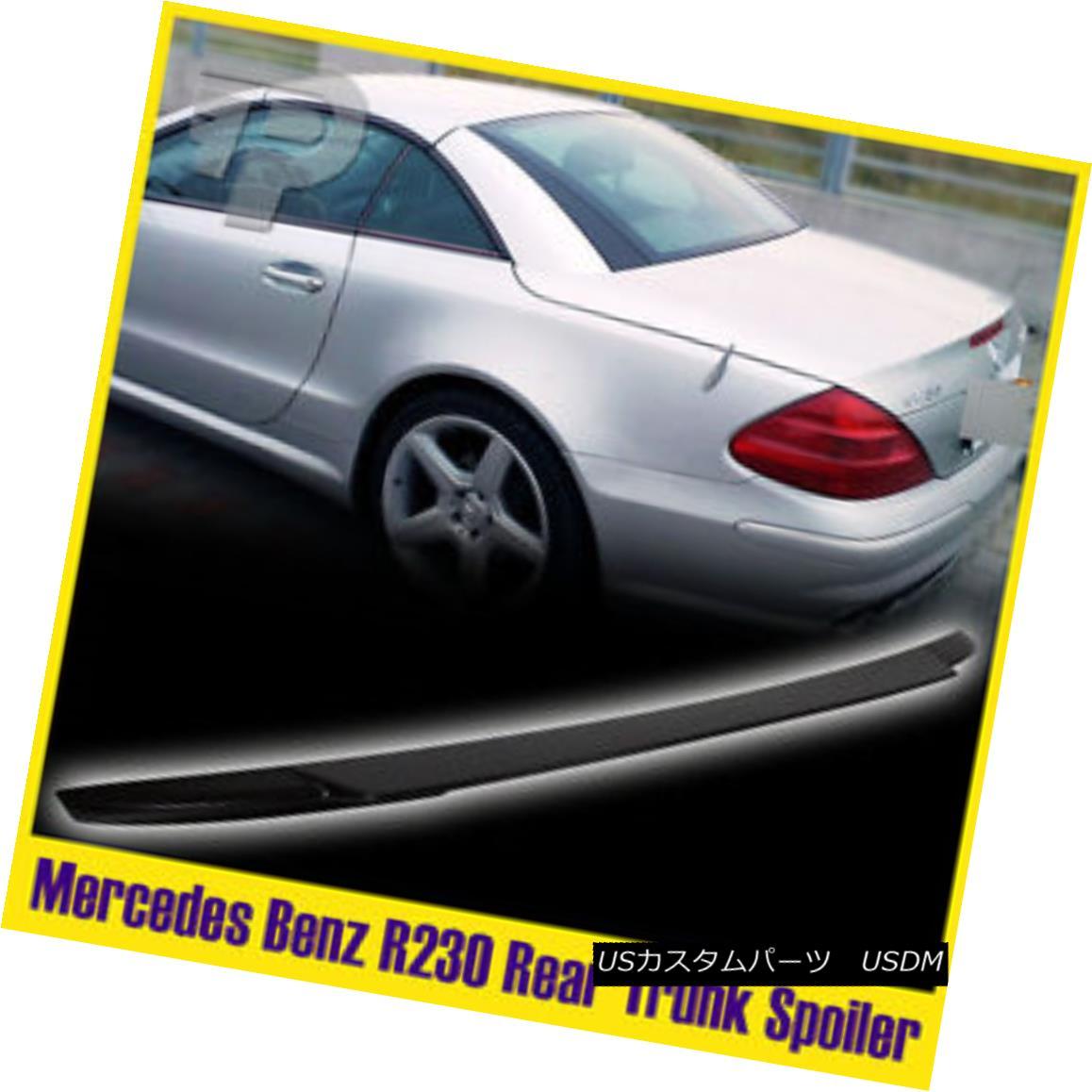 エアロパーツ Unpainted FOR Benz 03-11 R230 Convertible V-Type Rear Trunk Wing Spoiler SL500 未塗装のFOR Benz 03-11 R230コンバーチブルVタイプ後部トランクウィングスポイラーSL500