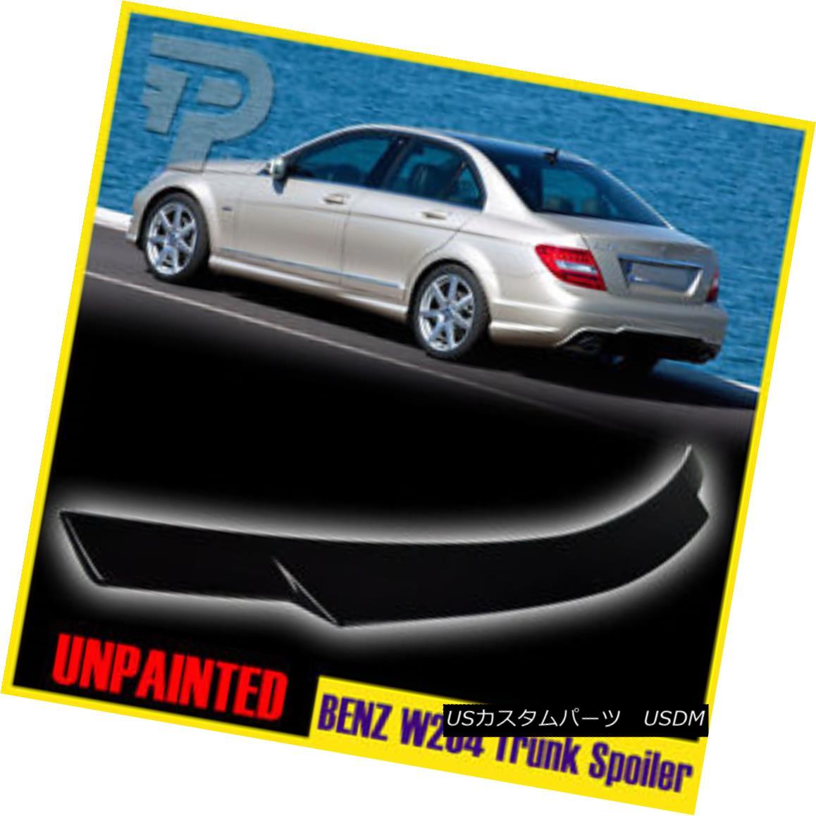 エアロパーツ Unpainted Mercedes BENZ W204 4D SEDAN V TYPE TRUNK SPOILER BOOT ▼ 未塗装のメルセデスベンツW204 4DセダンV型トランクスポイラーブーツ?