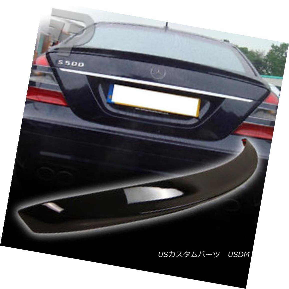エアロパーツ PAINTED Mercedes BENZ W221 A TYPE BOOT TRUNK SPOILER 040 BLACK ▼ ペイントされたメルセデスベンツW221型ブーツトランクスポイラー040黒?