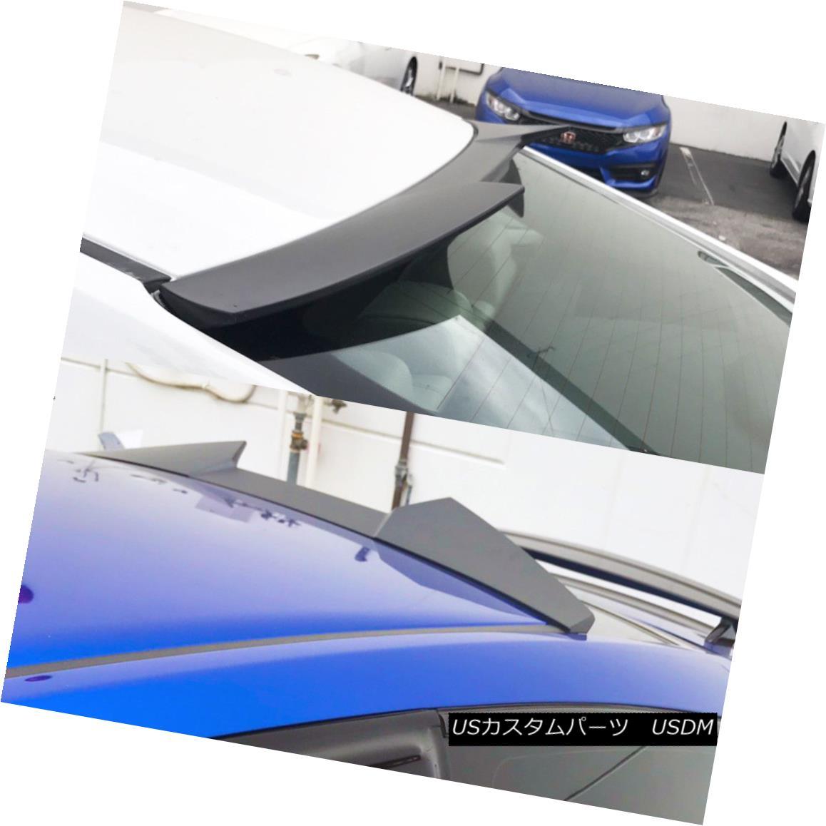 エアロパーツ For Honda Civic 10th Coupe V Look Rear Boot Roof Spoiler Wing 16-18 Carbon Fiber ホンダシビック10クーペVルックルーフルーフスポイラーウイング16-18カーボンファイバー