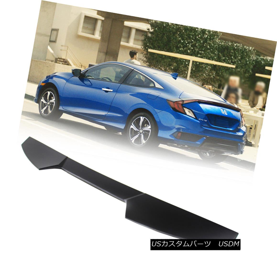 STOCK USA Unpaint Honda Civic 10 X Coupe V Look Window Roof Spoiler DX ABS