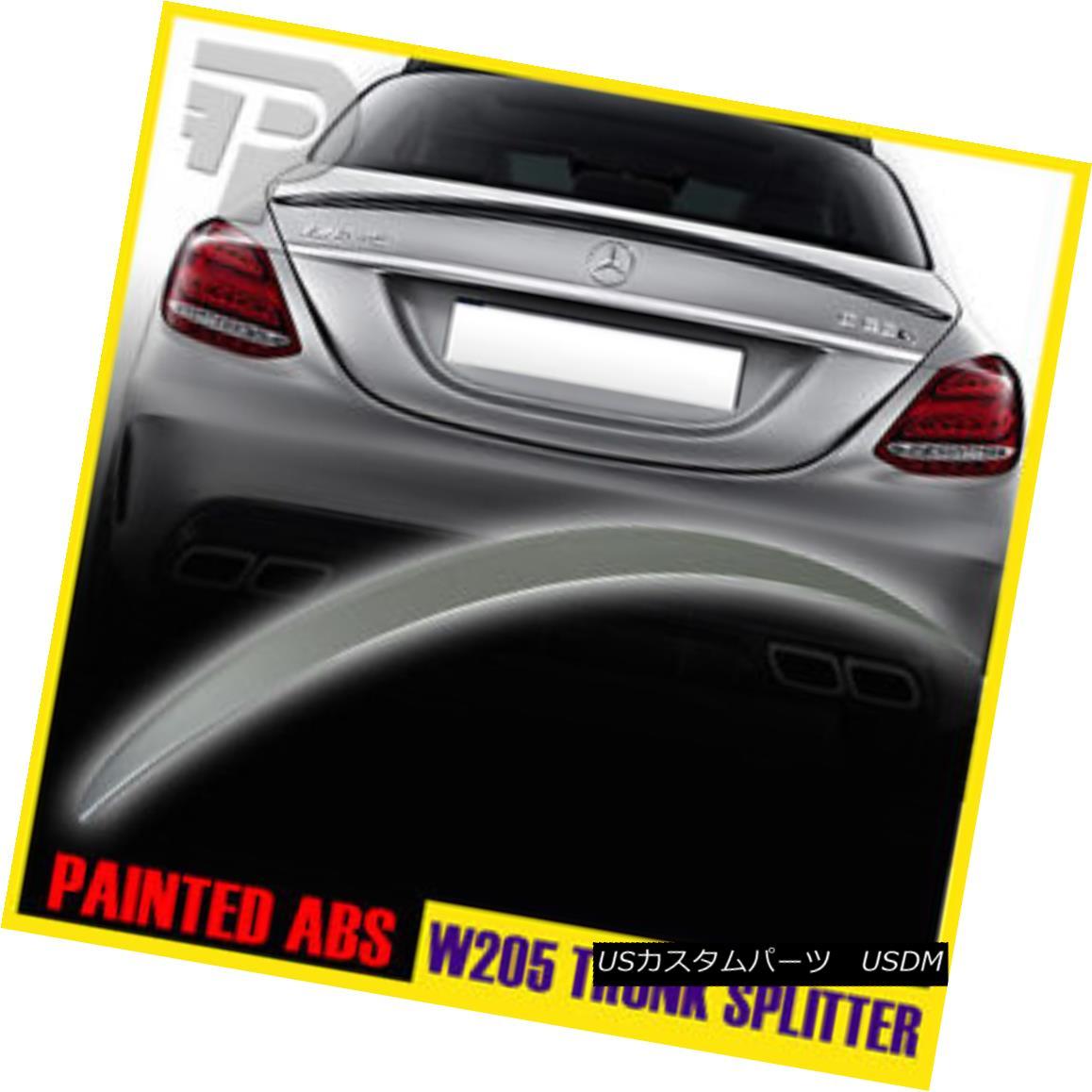 エアロパーツ PAINTED Mercedes BENZ C CLASS W205 A TYPE REAR TRUNK LIP SPOILER WING SEDAN▼ 塗装メルセデスベンツCクラスW205 Aタイプリヤトランクリップスポイラーウイングセダン?