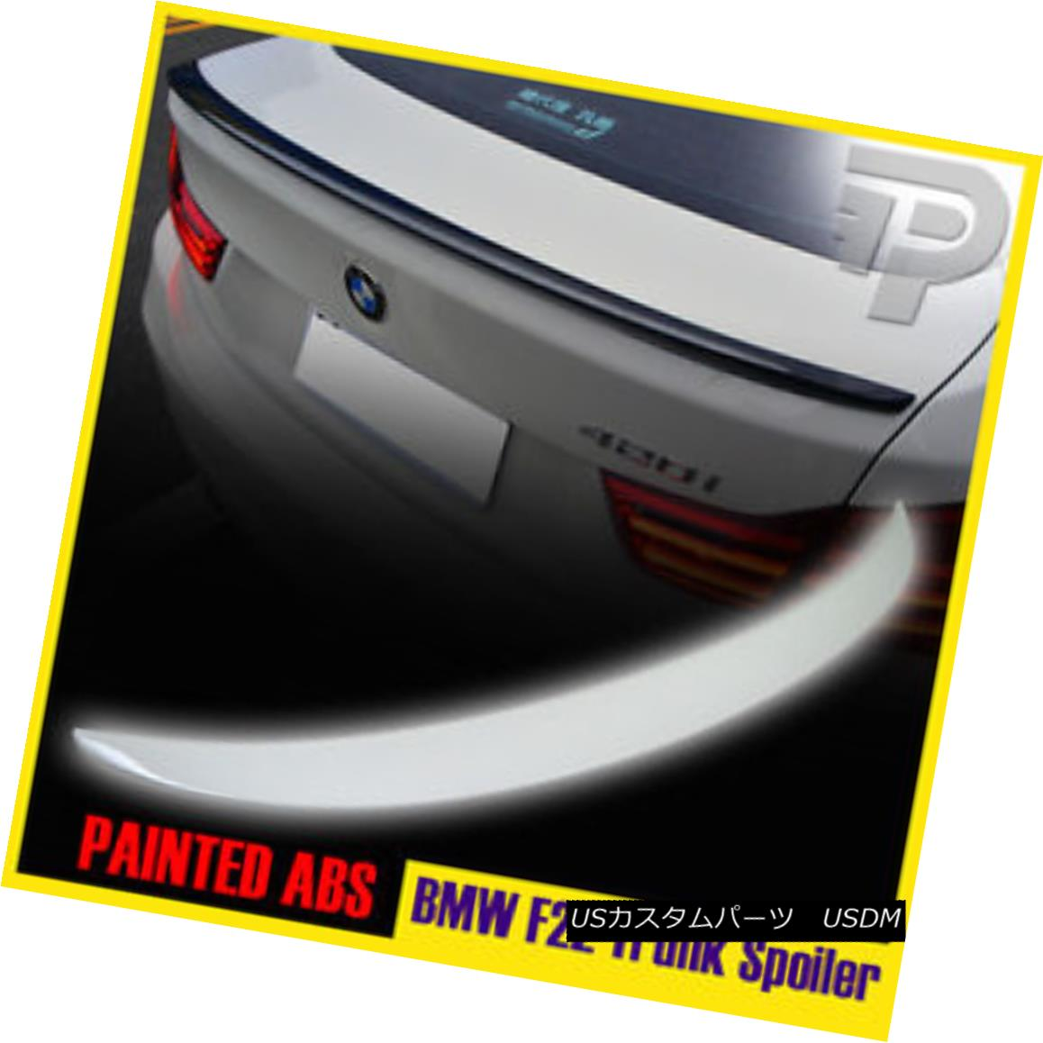 エアロパーツ PAINTED BMW 2-SERIES F22 PERFORMANCE TYPE BOOT TRUNK SPOILER 228i #300 ペイントされたBMW 2シリーズF22パフォーマンスタイプブーツトーンスポイラー228i#300