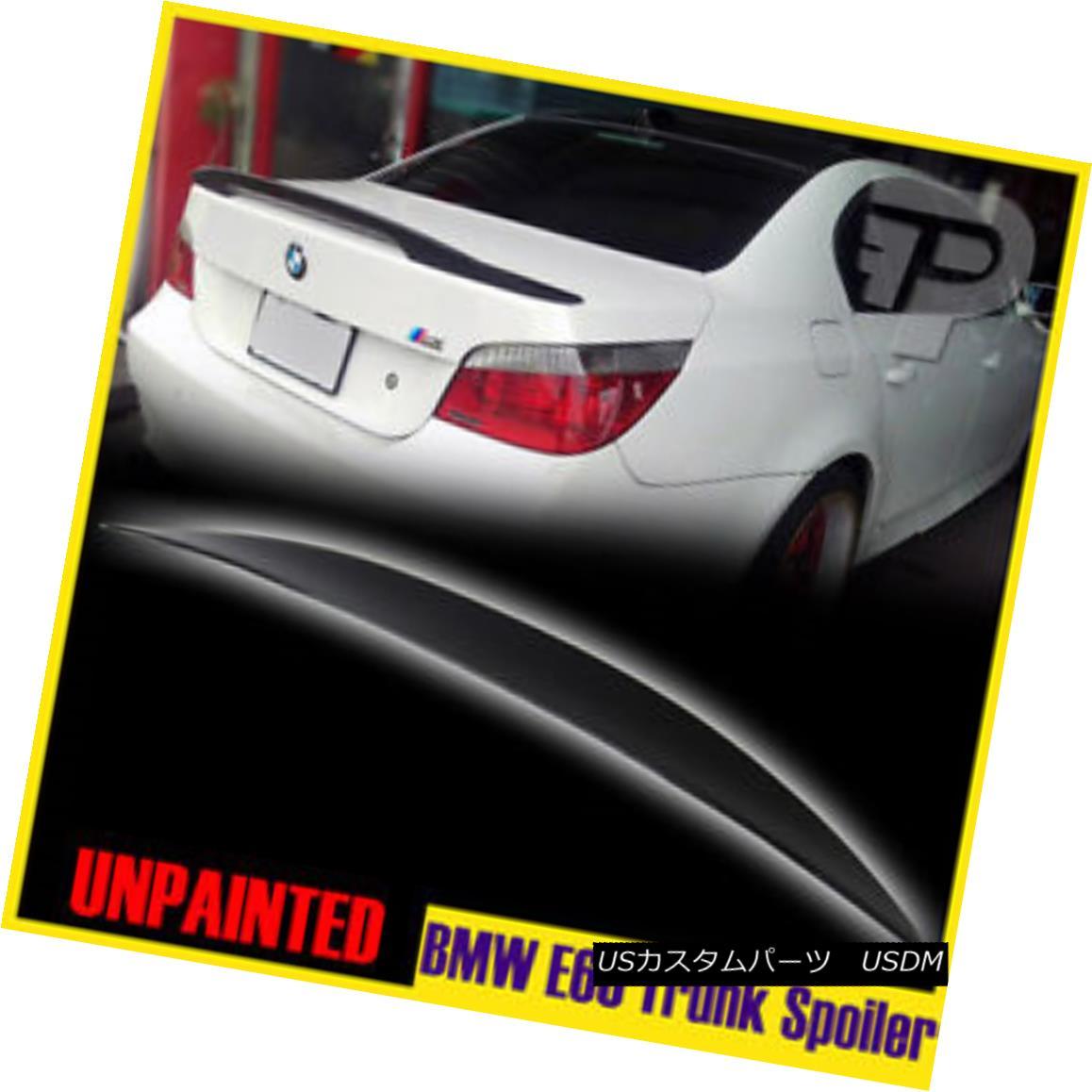 エアロパーツ Unpainted High Kick BMW 5-Series E60 4D Performance-Look Rear Trunk Spoiler 2010 未塗装ハイキックBMW 5シリーズE60 4Dパフォーマンスロウokリアトランク・スポイラー2010