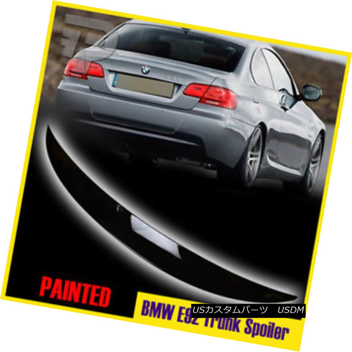 エアロパーツ PAINT #A22 HIGH KICK BMW E92 P-Look 2D Coupe Rear Trunk Wing Spoiler 328i 325i PAINT#A22ハイキックBMW E92 P-ルック2Dクーペリアトランクウイングスポイラー328i 325i