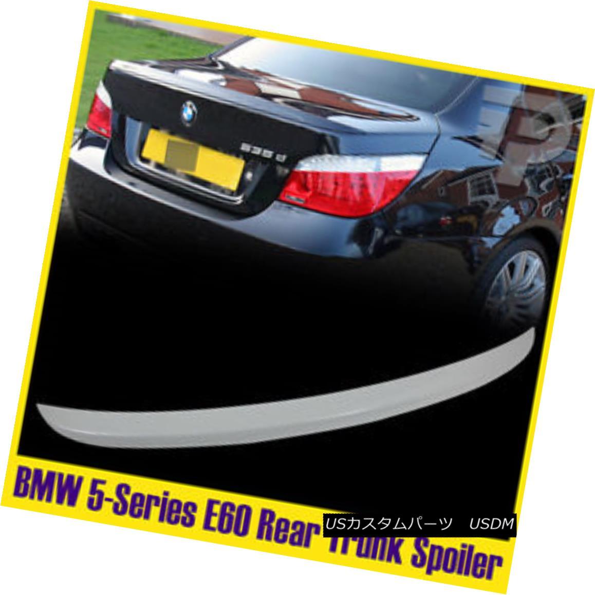 エアロパーツ Painted #300 Alpine White 5-Series E60 BMW Sedan Trunk Rear Wing Spoiler 04-10 ペイント#300アルパインホワイト5シリーズE60 BMWセダントランクリアウィングスポイラー04-10