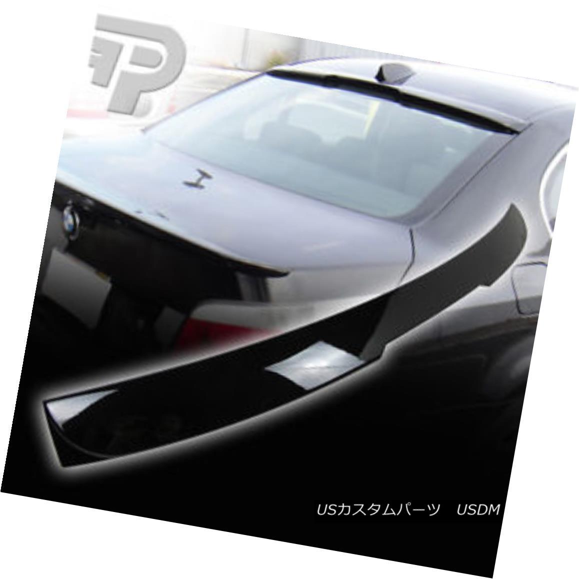 エアロパーツ PAINTED E60 BMW 5-SERIES SEDAN REAR SPOILER ROOF A TYPE 475 BLACK ▼ 塗装E60 BMW 5シリーズセダンリアスポイラールーフタイプ475ブラック?