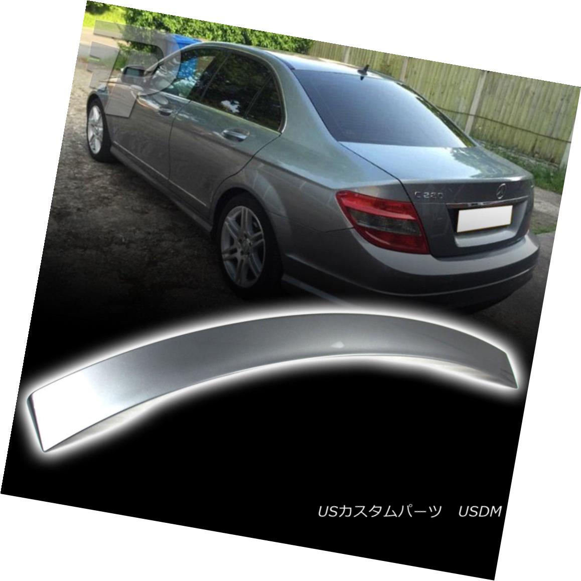 エアロパーツ 2013 Paint Mercedes BENZ C-Class W204 C180 Sedan Rear A Style Roof Spoiler #792 2013ペイントメルセデスベンツCクラスW204 C180セダンリアスタイルルーフスポイラー#792
