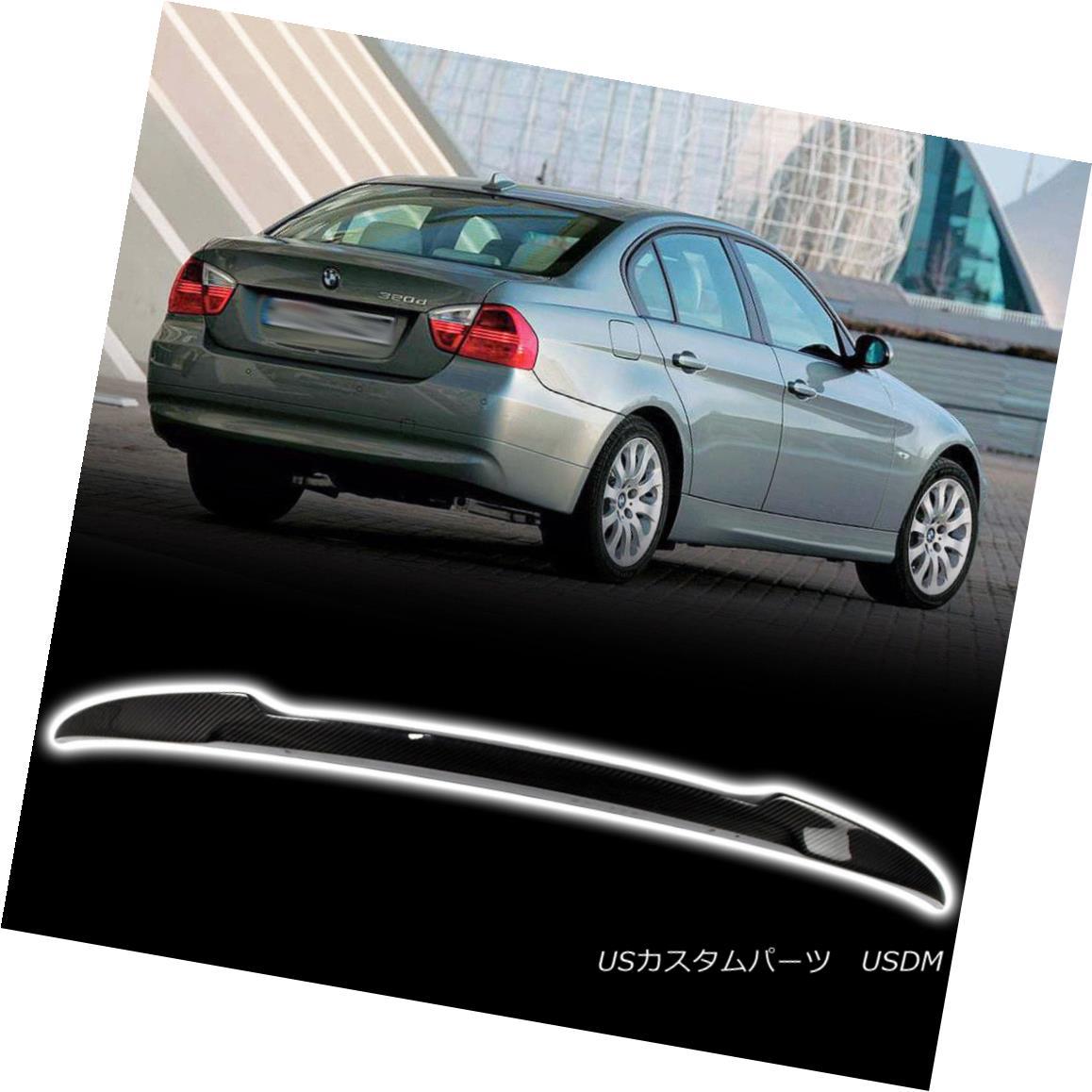 エアロパーツ Fit BMW 3 Series E90 Sedan 06-11 V Look Rear Trunk Spoiler Real Carbon Fiber フィットBMW 3シリーズE90セダン06-11 Vルーフリヤトランク・スポイラーリアルカーボン・ファイバー