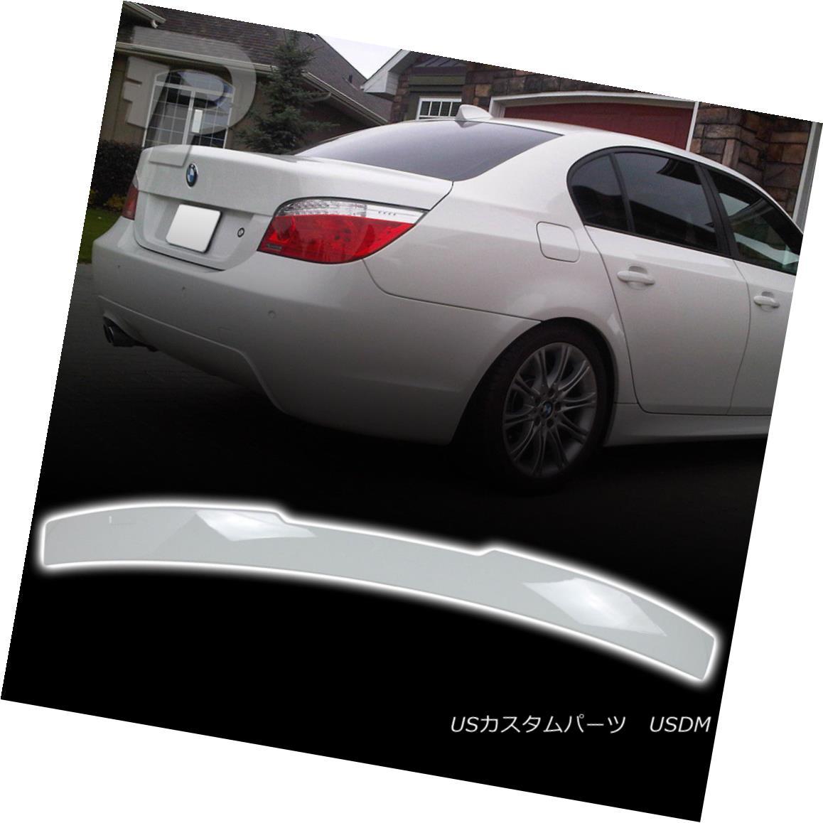 エアロパーツ 04-10 For BMW 5-Series E60 M5 Sedan A Type Rear Roof Spoiler Painted Color#300 04-10 BMW 5シリーズE60 M5セダンAタイプリアルーフスポイラー塗装カラー#300