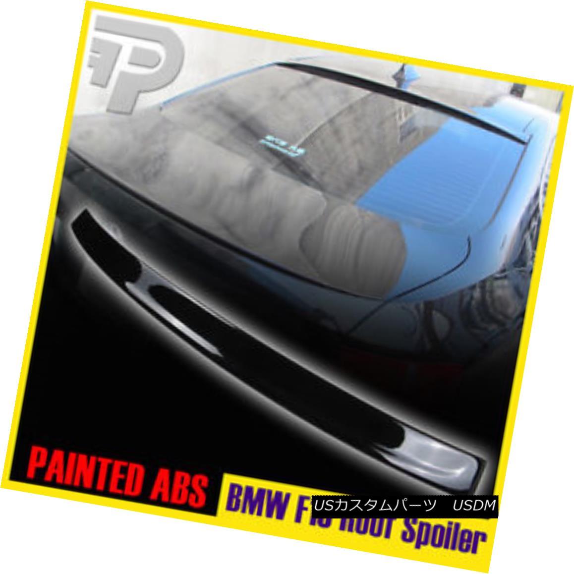 エアロパーツ PAINTED BMW F10 3D TYPE WINDOW REAR ROOF SPOILER 11+ ▼ 塗装済みBMW F10 3Dタイプウインドウリアルーフスポイラー11+?