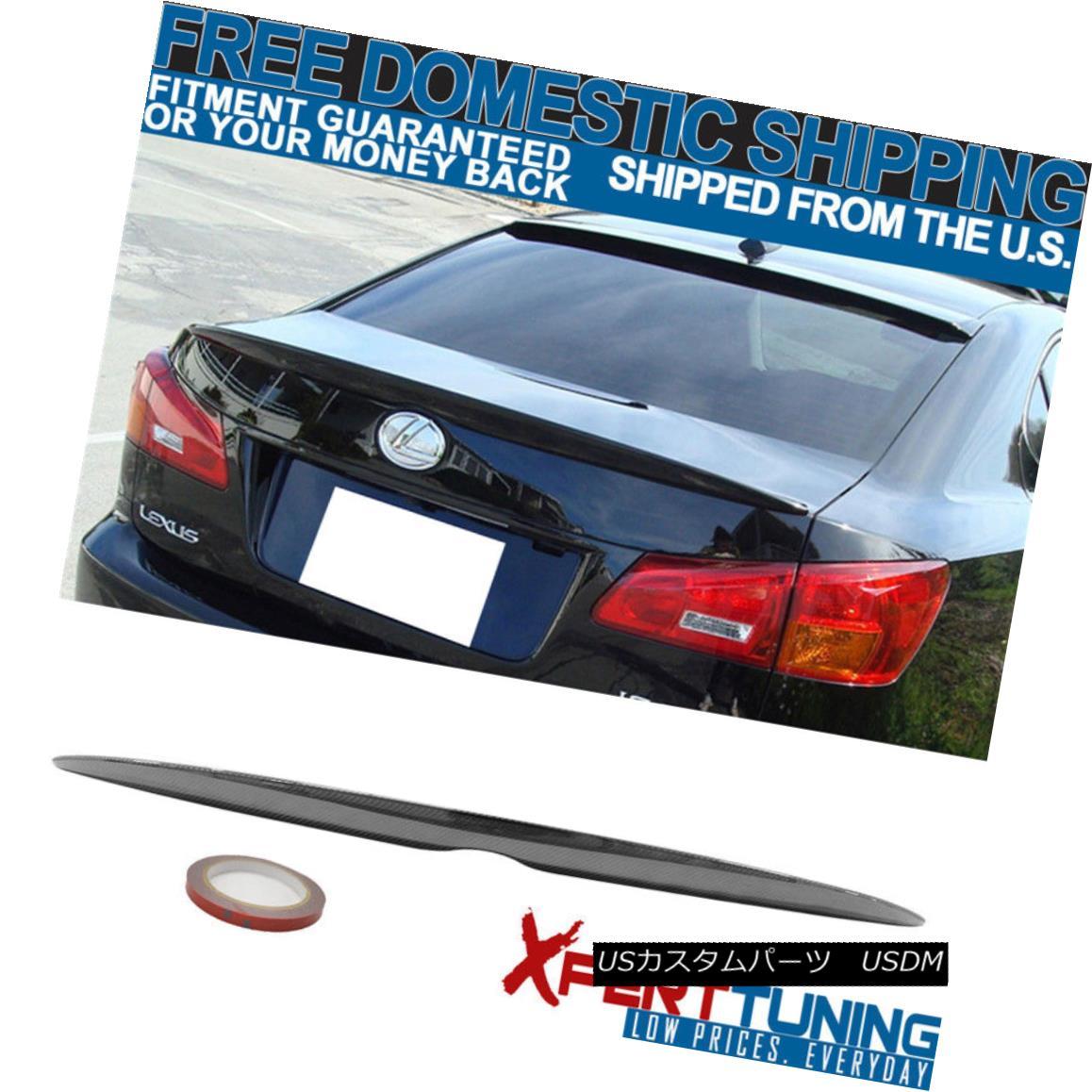 エアロパーツ Fit For 06-13 Lexus IS250 IS350 4D 4Dr OE Carbon Fiber CF Luggage Trunk Spoiler フィット6-13レクサスIS250 IS350 4D 4Dr OE炭素繊維CF荷物のトランク・スポイラー