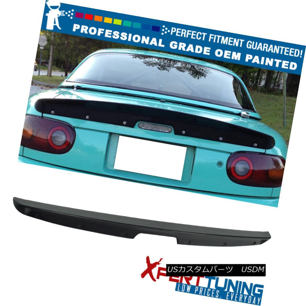 エアロパーツ 90-97 Mazda Miata Mx5 KG Style Painted ABS Trunk Spoiler - OEM Painted Color 90-97 Mazda Miata Mx5 KGスタイル塗装ABSトランク・スポイラー - OEM塗装カラー