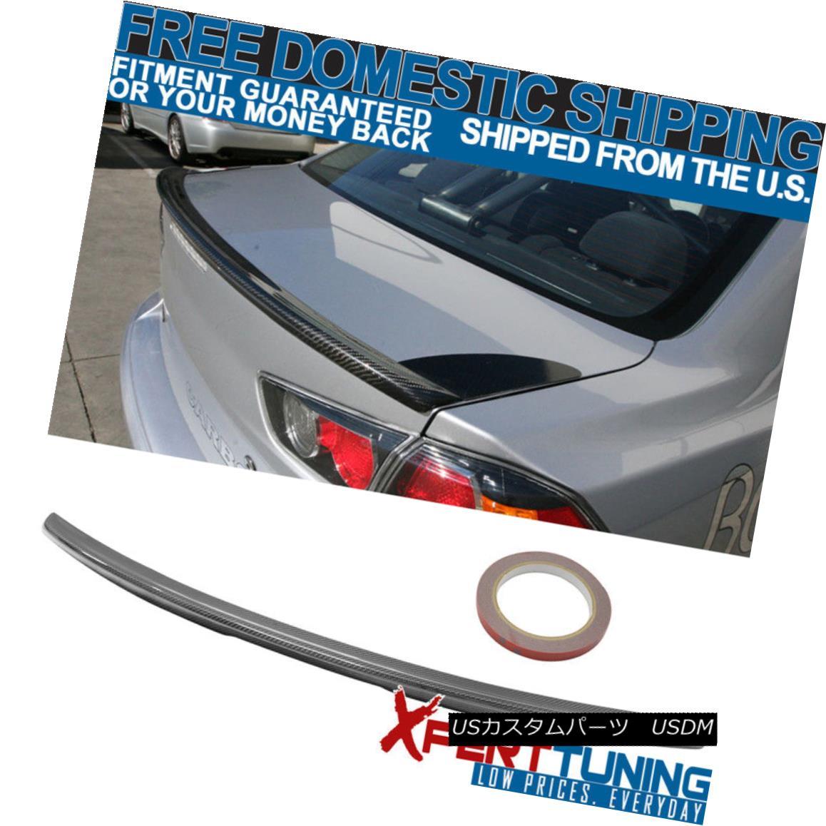 エアロパーツ 08-15 Mitsubishi Lancer Evolution EVO-X MR Style Carbon Fiber CF Trunk Spoiler 08-15三菱ランサーエボリューションEVO-X MRスタイル炭素繊維CFトランク・スポイラー