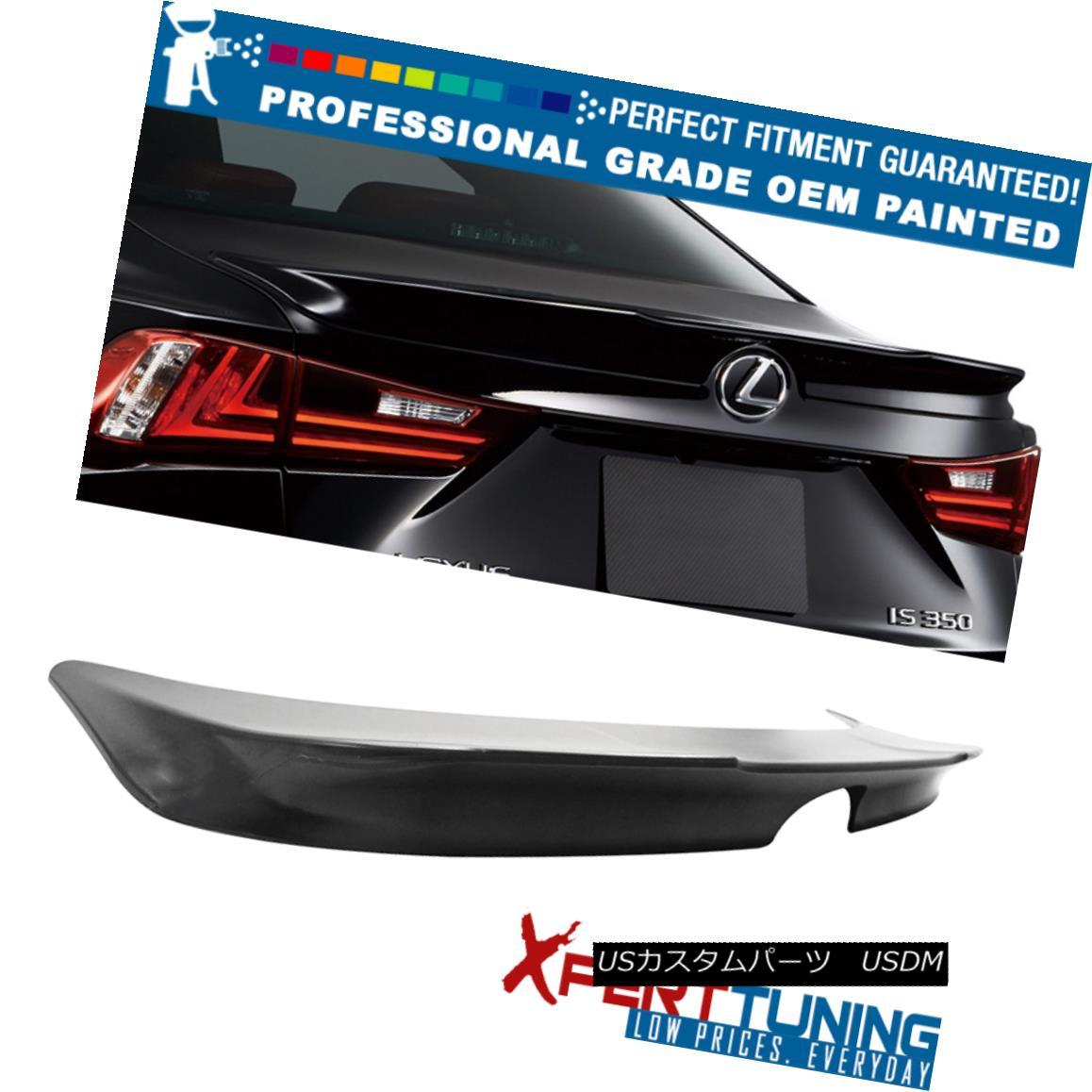 エアロパーツ Fit 14-16 Lexus IS250 F Sport Painted ABS Trunk Spoiler - OEM Painted Color フィット14-16レクサスIS250 Fスポーツ塗装ABSトランクスポイラー - OEM塗装色