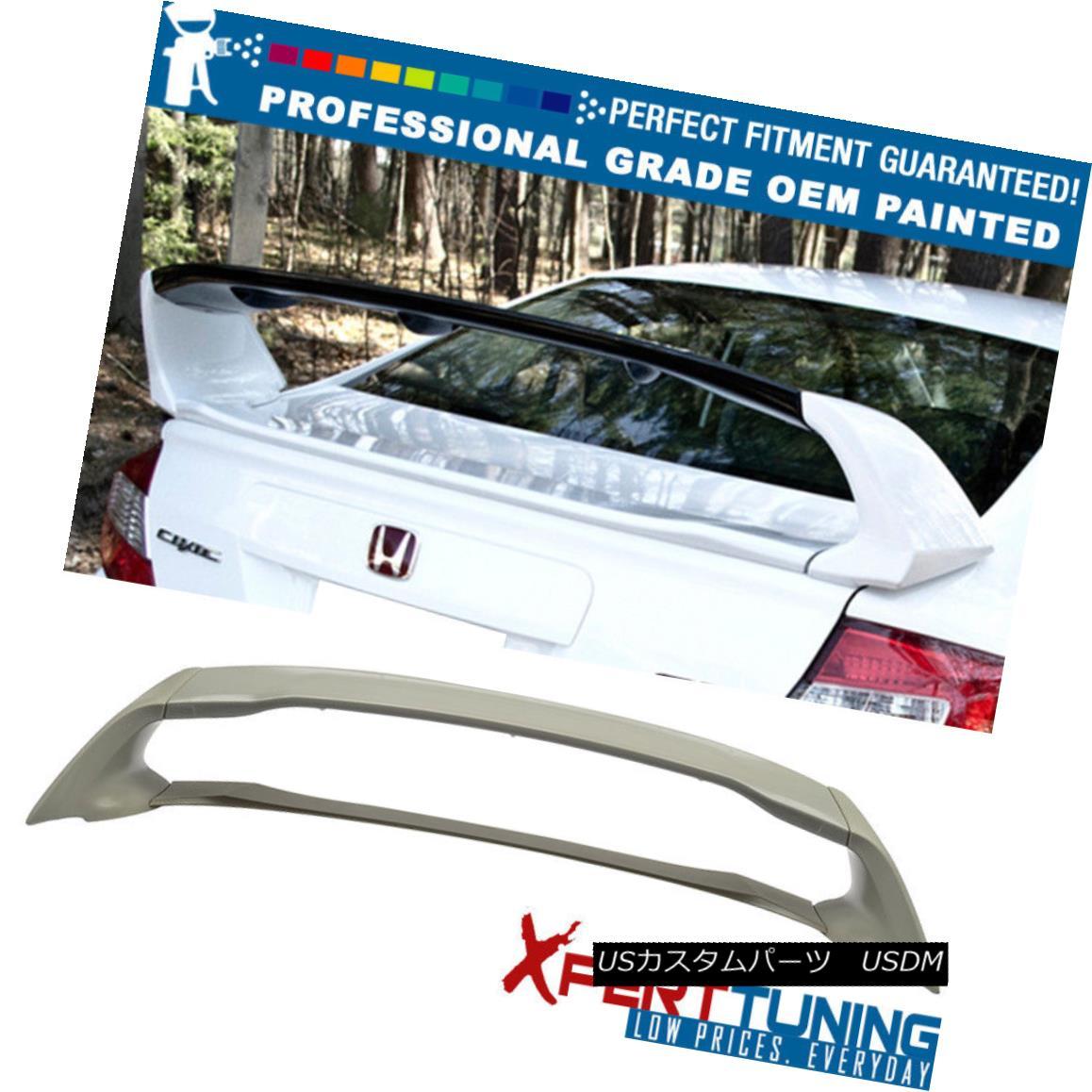 エアロパーツ 12-15 Honda Civic Mugen Painted ABS Trunk Spoiler - OEM Painted Color ホンダシビックムゲン塗装ABSトランク・スポイラー - OEM塗装カラー