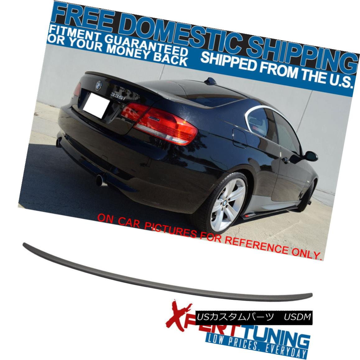 エアロパーツ 07-13 BMW E92 3 Series M3 Rear Trunk Lid Spoiler Wing ABS Painted Matte Black 07-13 BMW E92 3シリーズM3リアトランクリッドスポイラーウイングABS塗装マットブラック