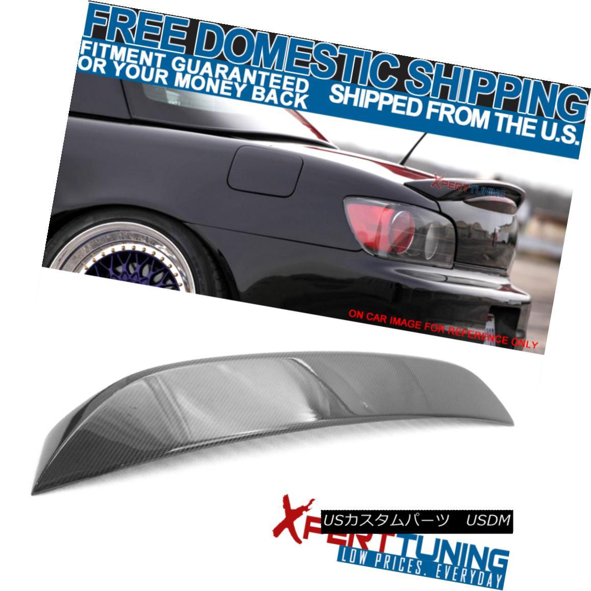 エアロパーツ 00-09 Honda S2000 2Dr OE Style Trunk Spoiler Wing - Carbon Fiber (CF) 00-09ホンダS2000 2Dr OEスタイルトランク・スポイラー翼 - 炭素繊維(CF)